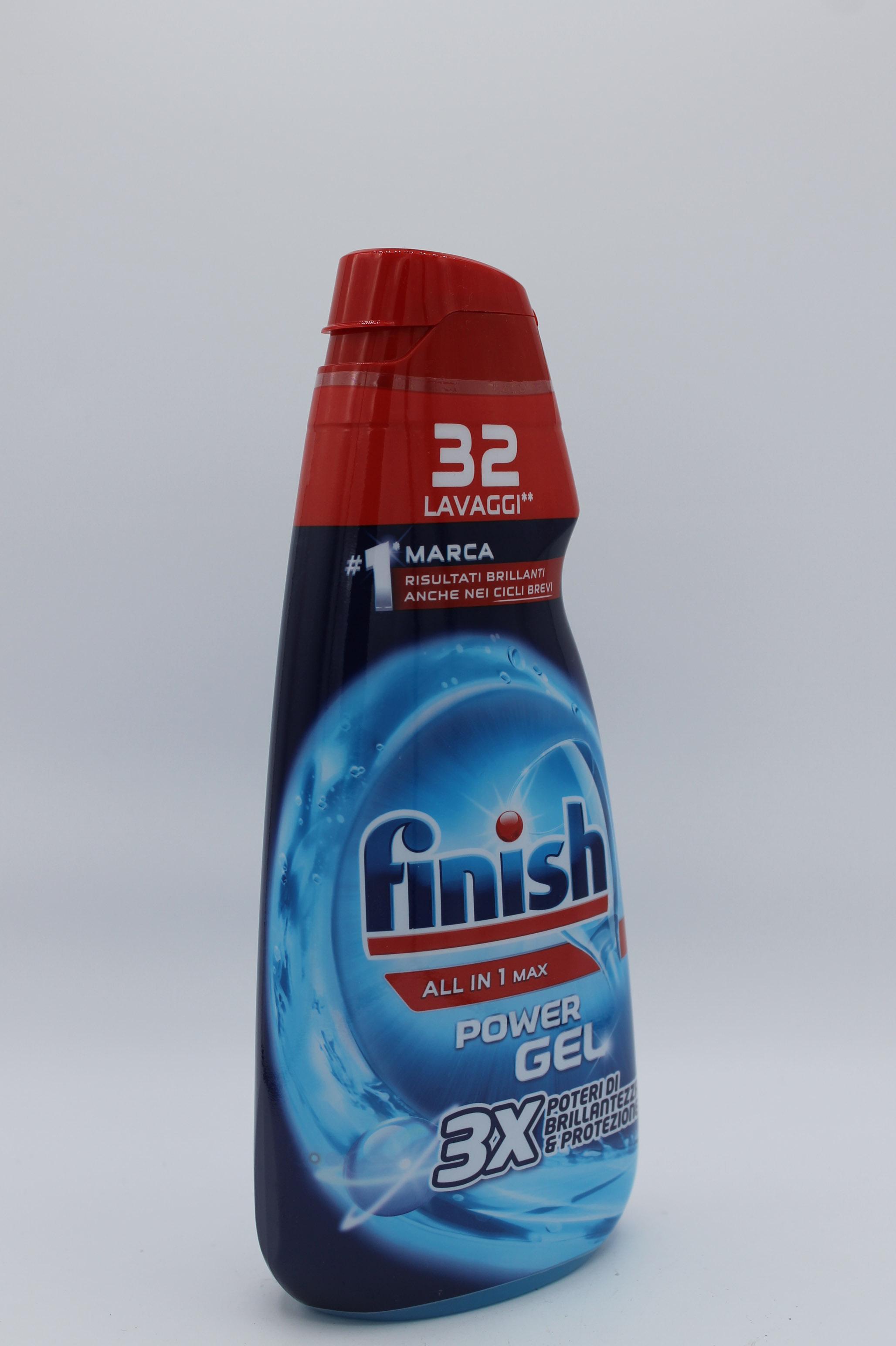 Finish detersivo lavastoviglie power gel 650ml.