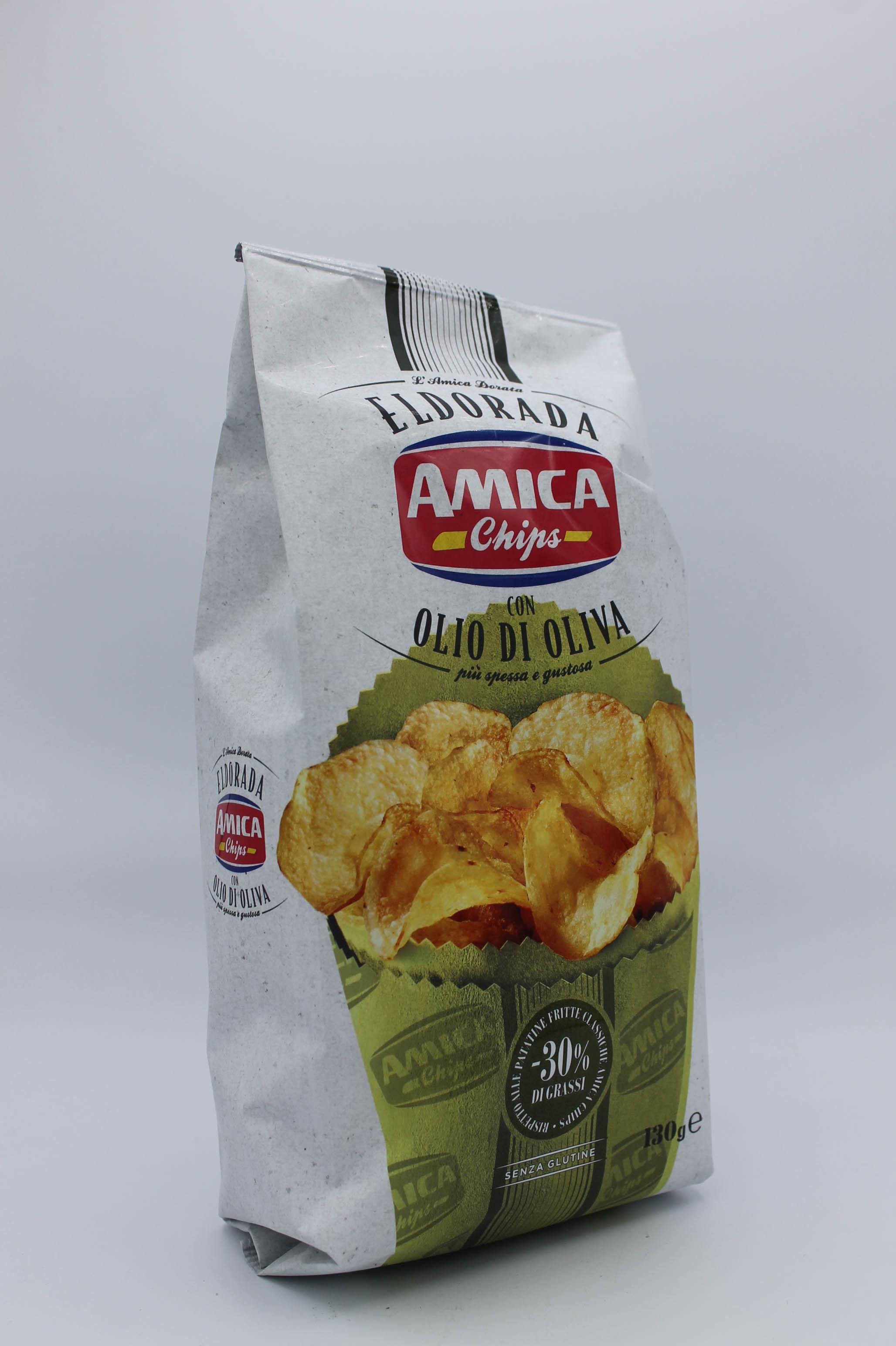 Amica Chips patatine eldorada olio oliva 130gr.