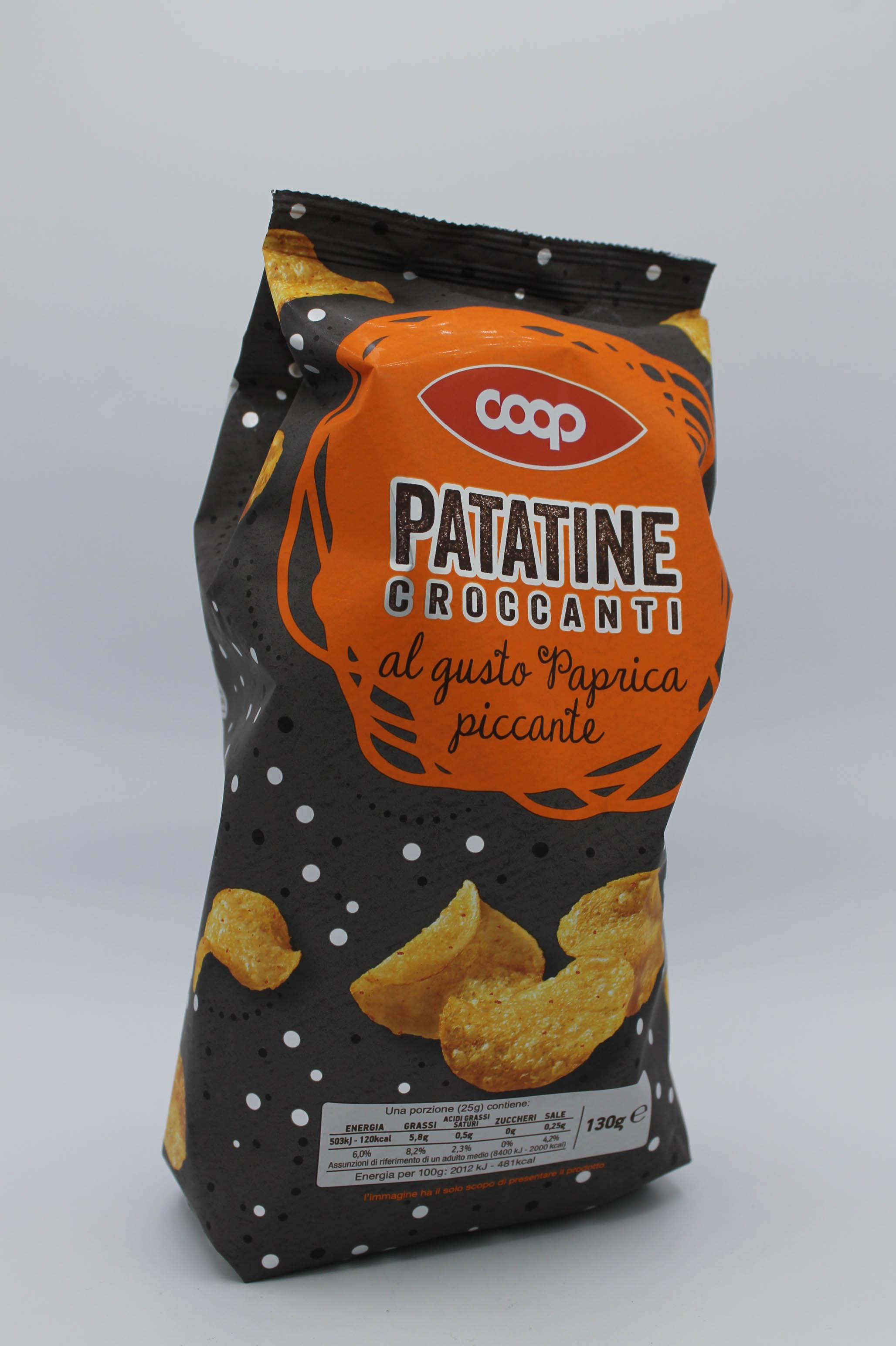 Coop patatine croccanti paprika 130gr.