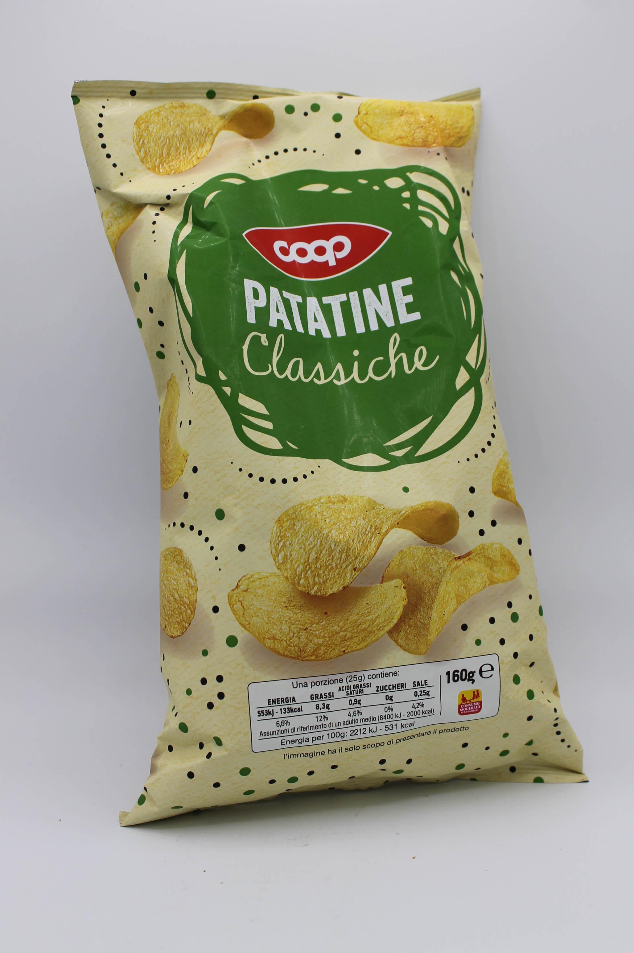 Coop patatine classiche 160gr.