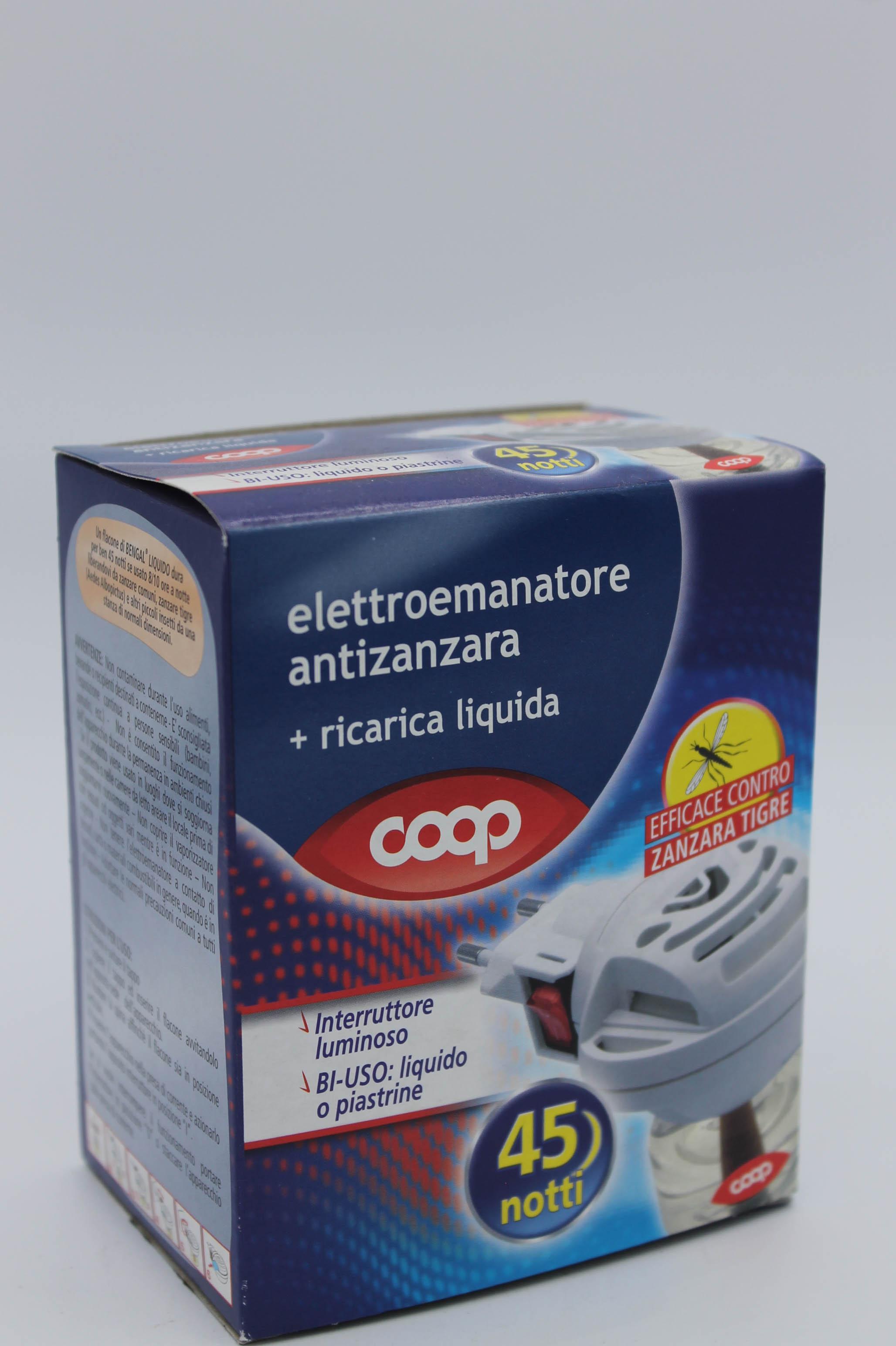 Coop elettroemanatore antizanzare + ricarica liquida.