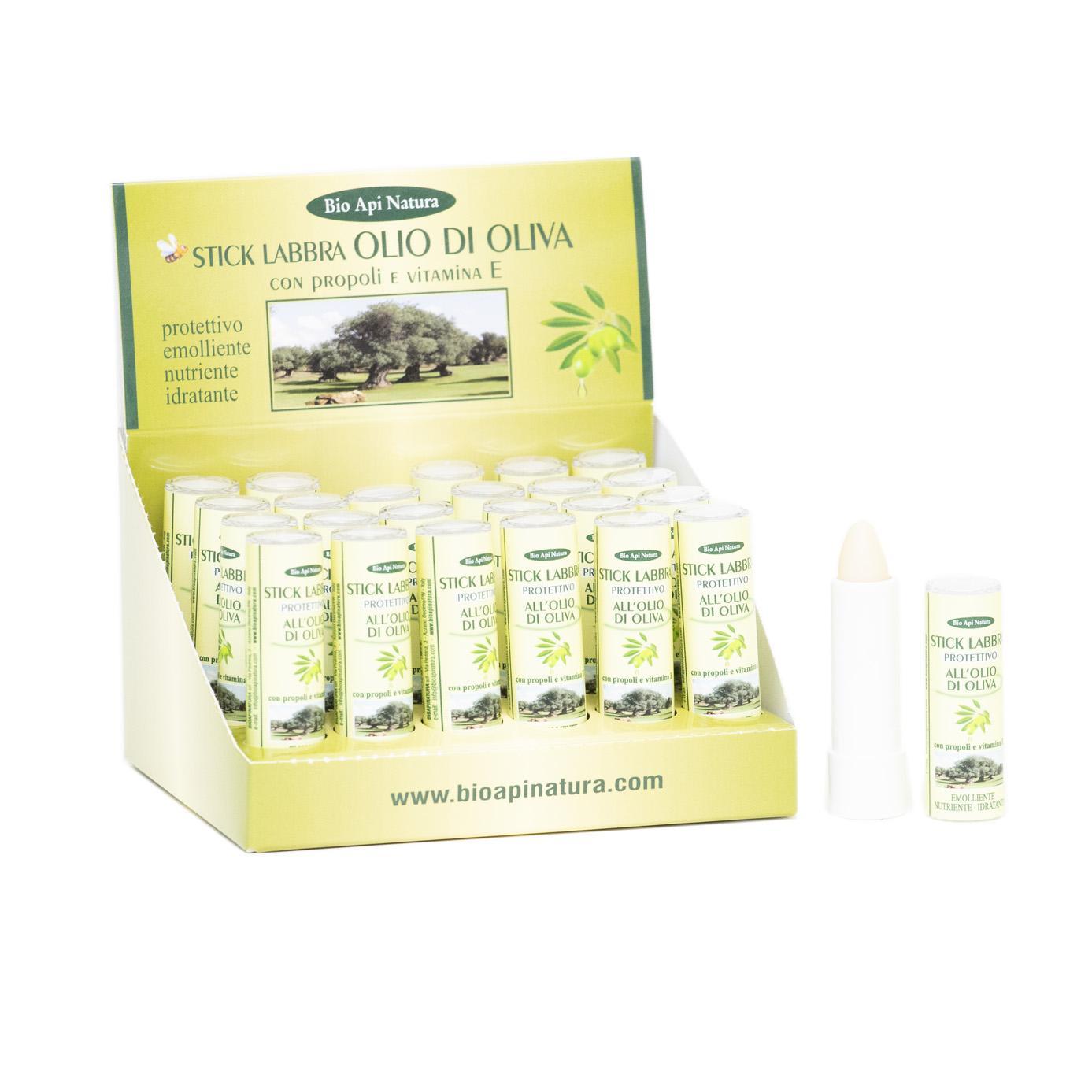 Stick Labbra all'olio d'oliva, propoli, vitamina E – 4 g