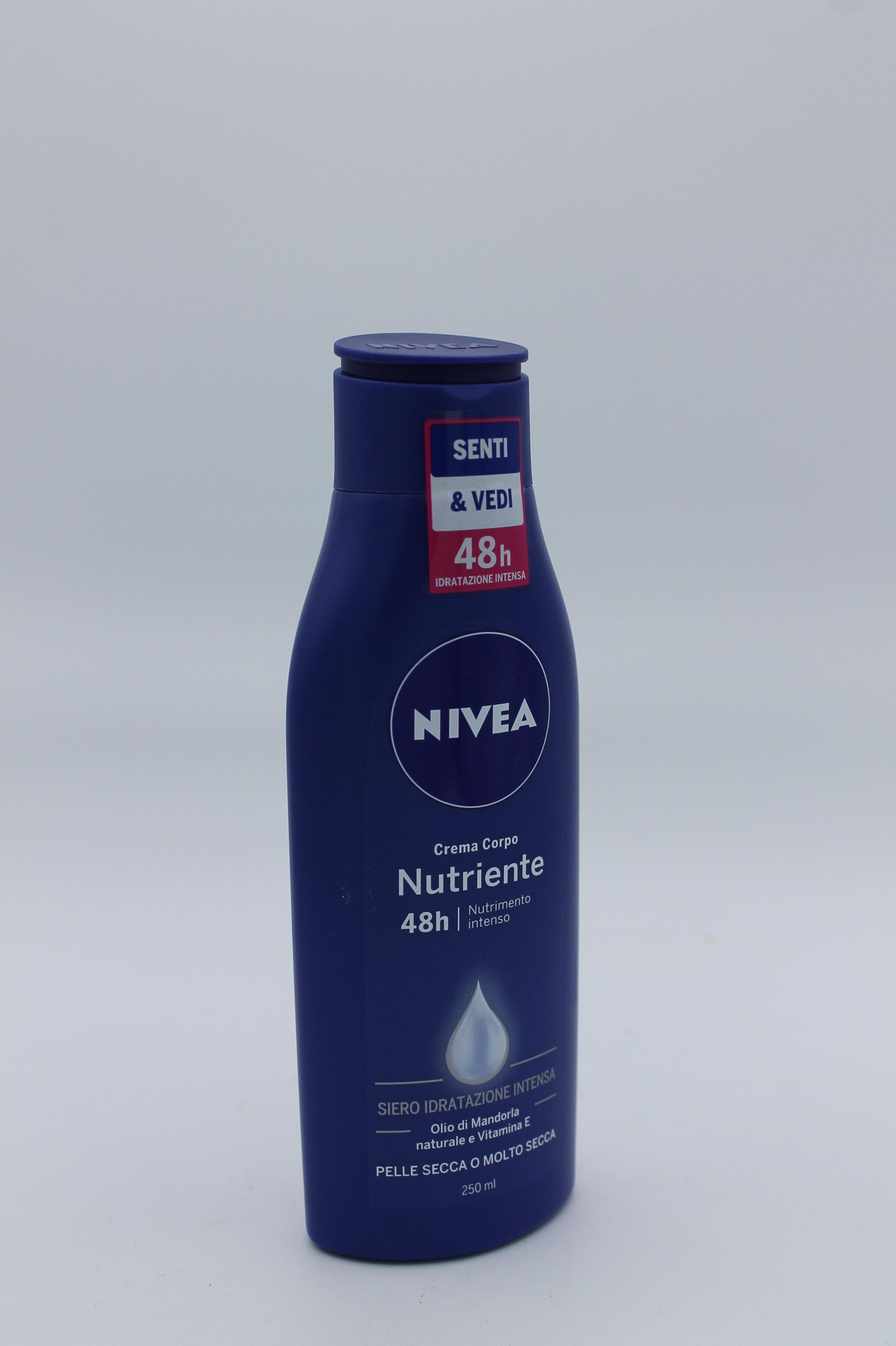 Nivea crema corpo nutriente 250ml.