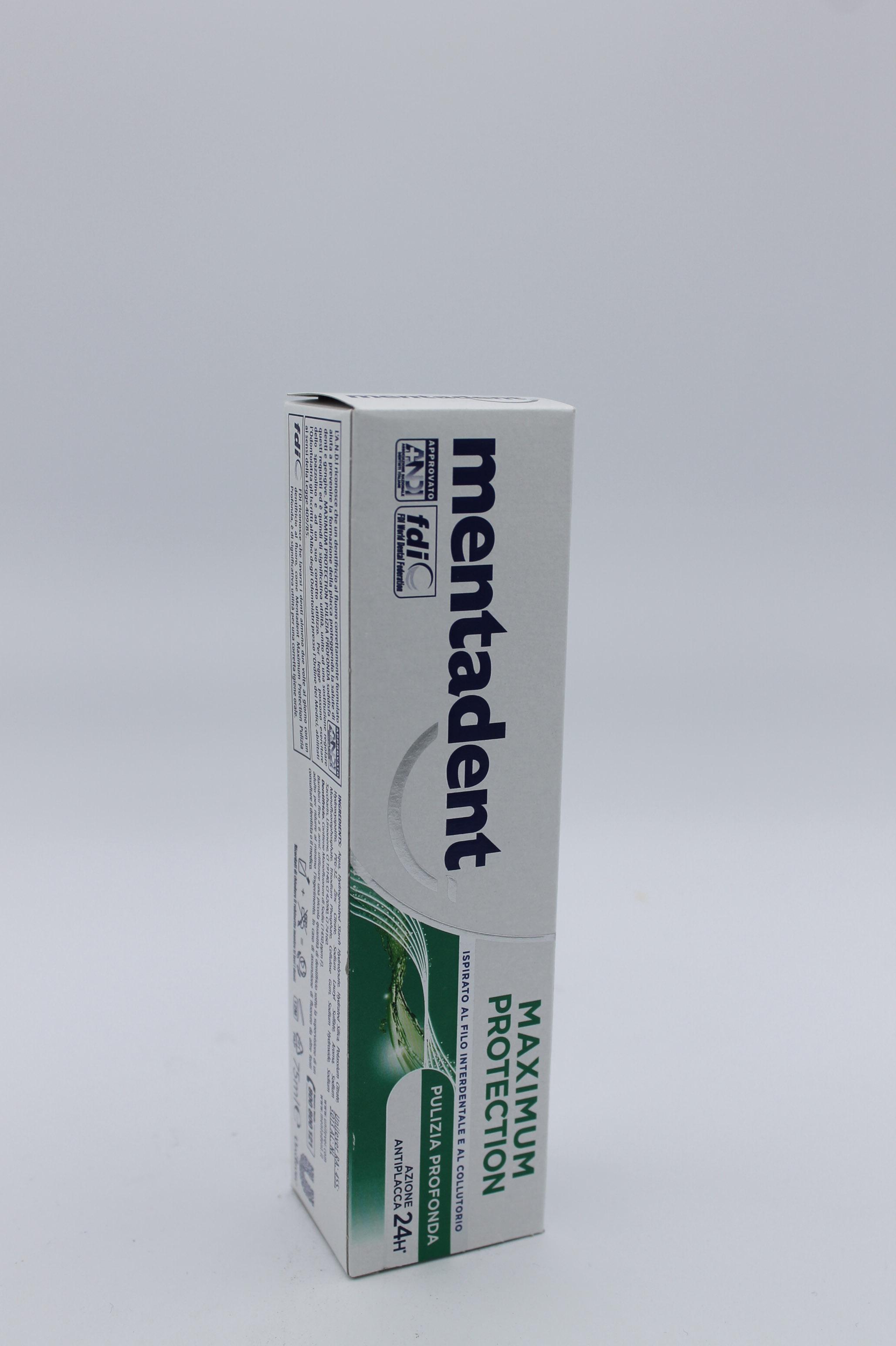 Mentadent dentifricio 75ml vari tipi.