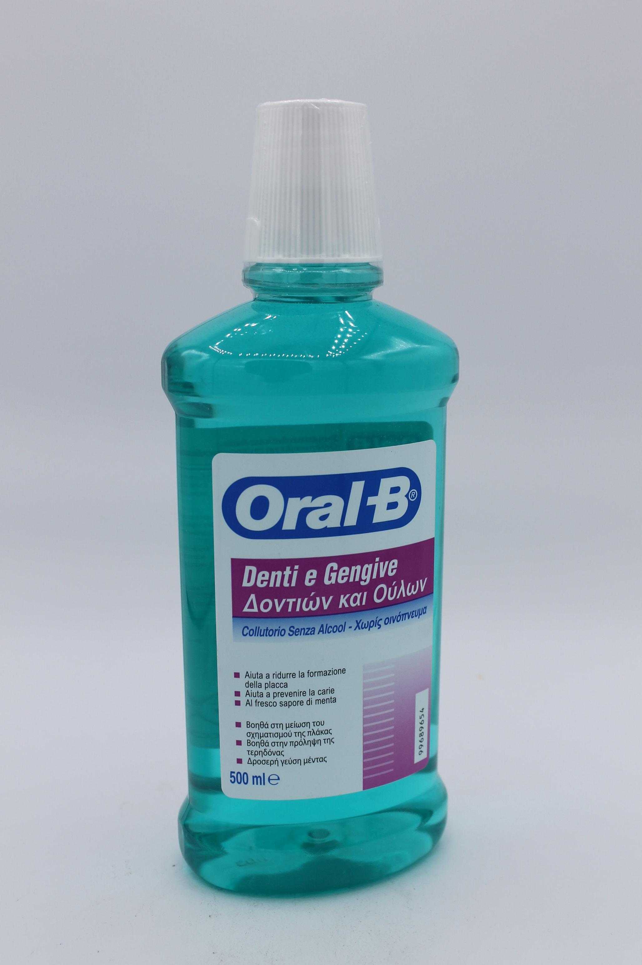 Oral B collutorio denti e gengive 500ml.