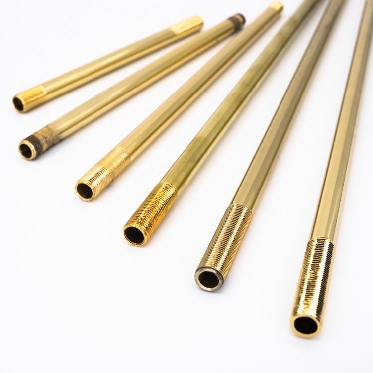 Canna per lampadario Ø10 mm x L150 mm con filetti M10x1 oro galvanico