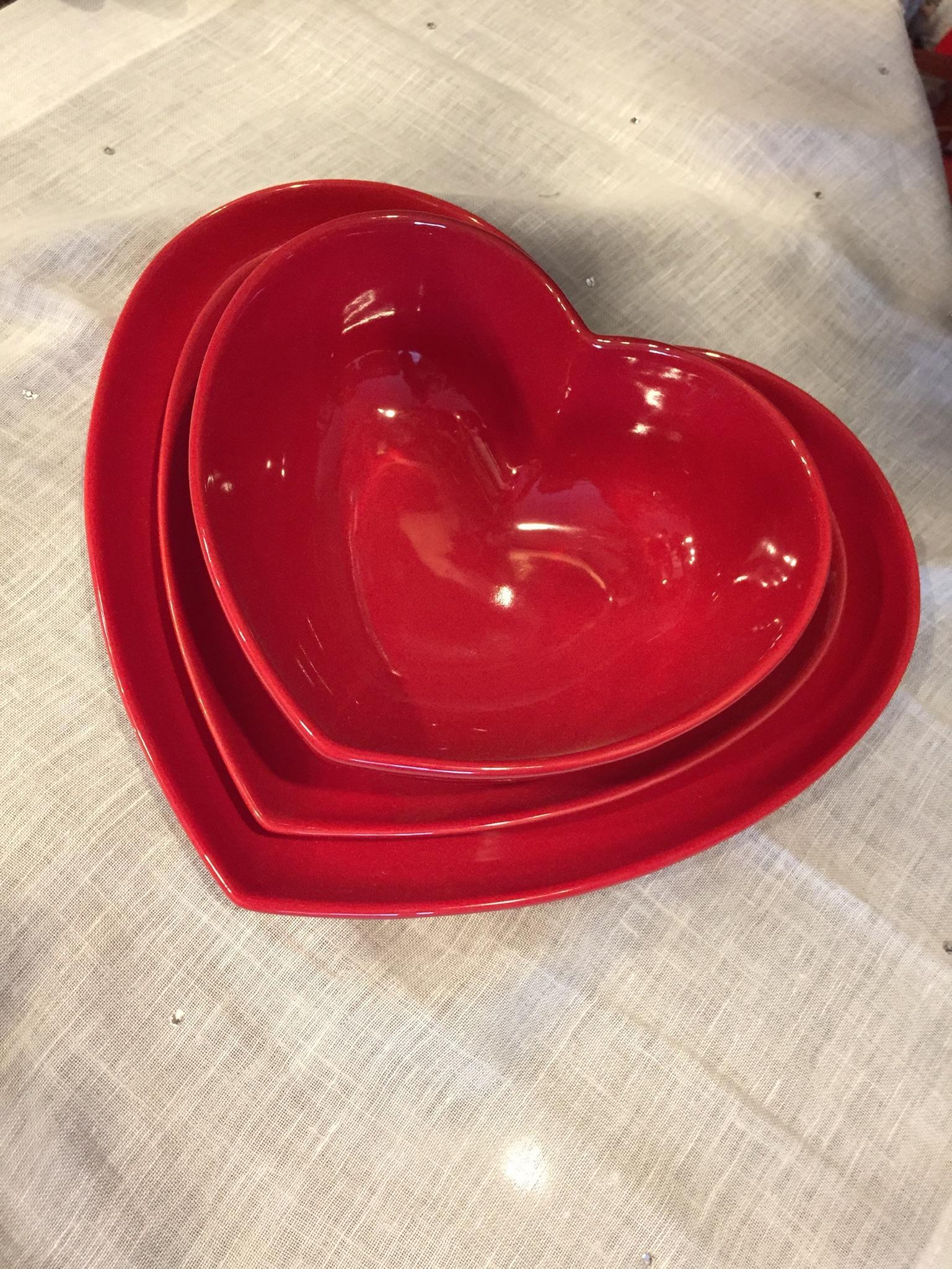 Set piatti cuore (3 pezzi)
