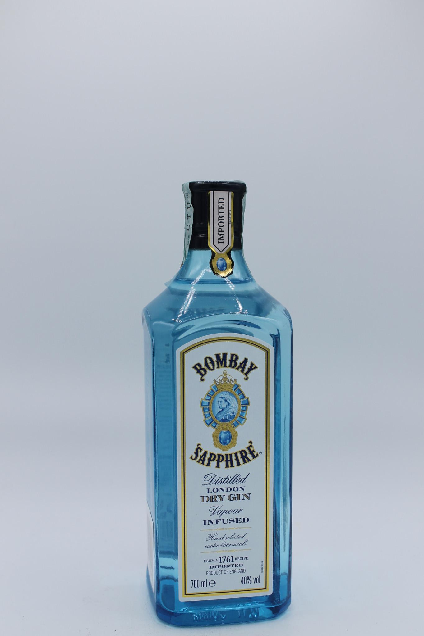 Bacardi gin bombay sapphire 700ml.