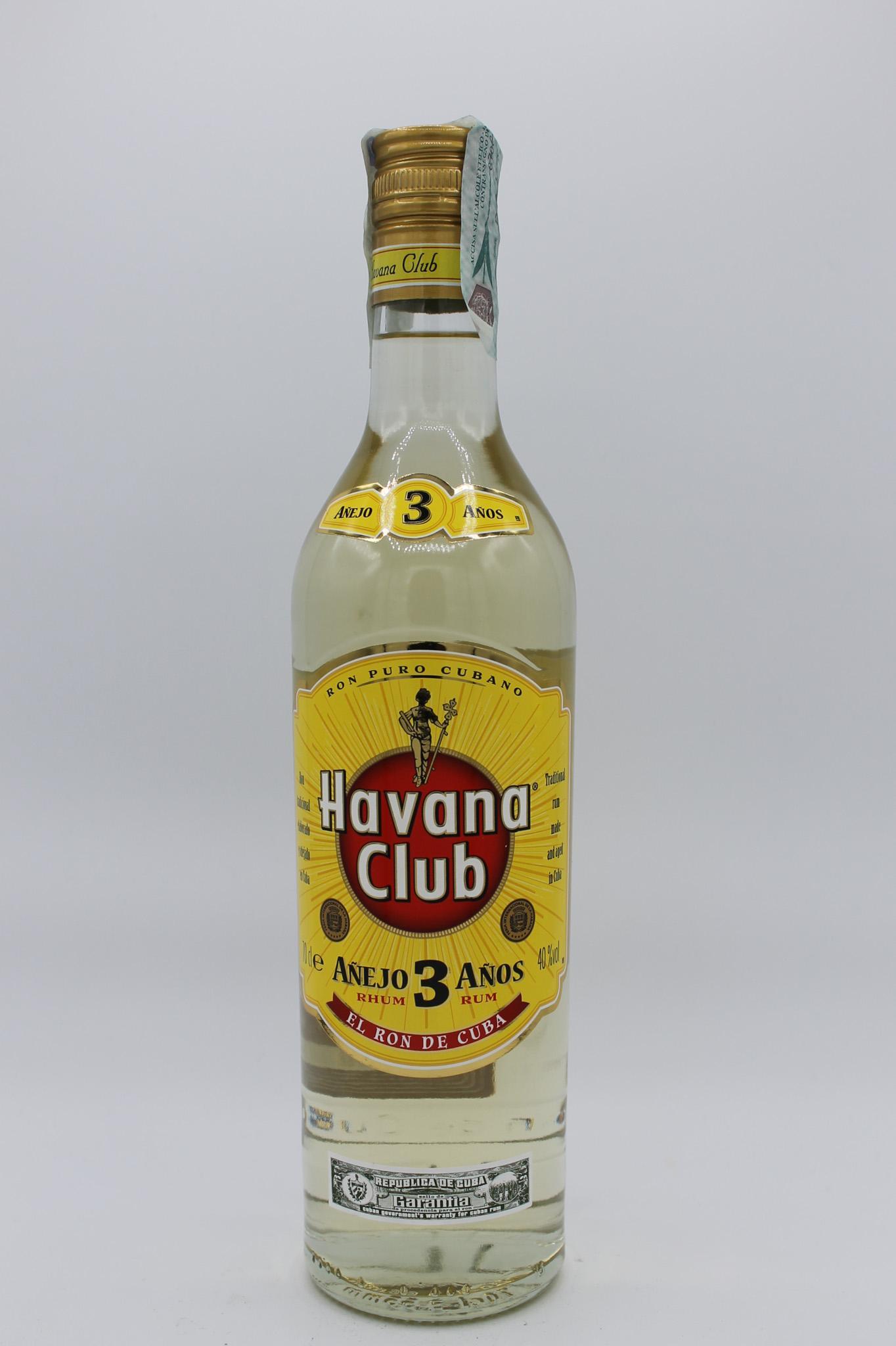 Havana Club Rhum 3 anni 700ml.