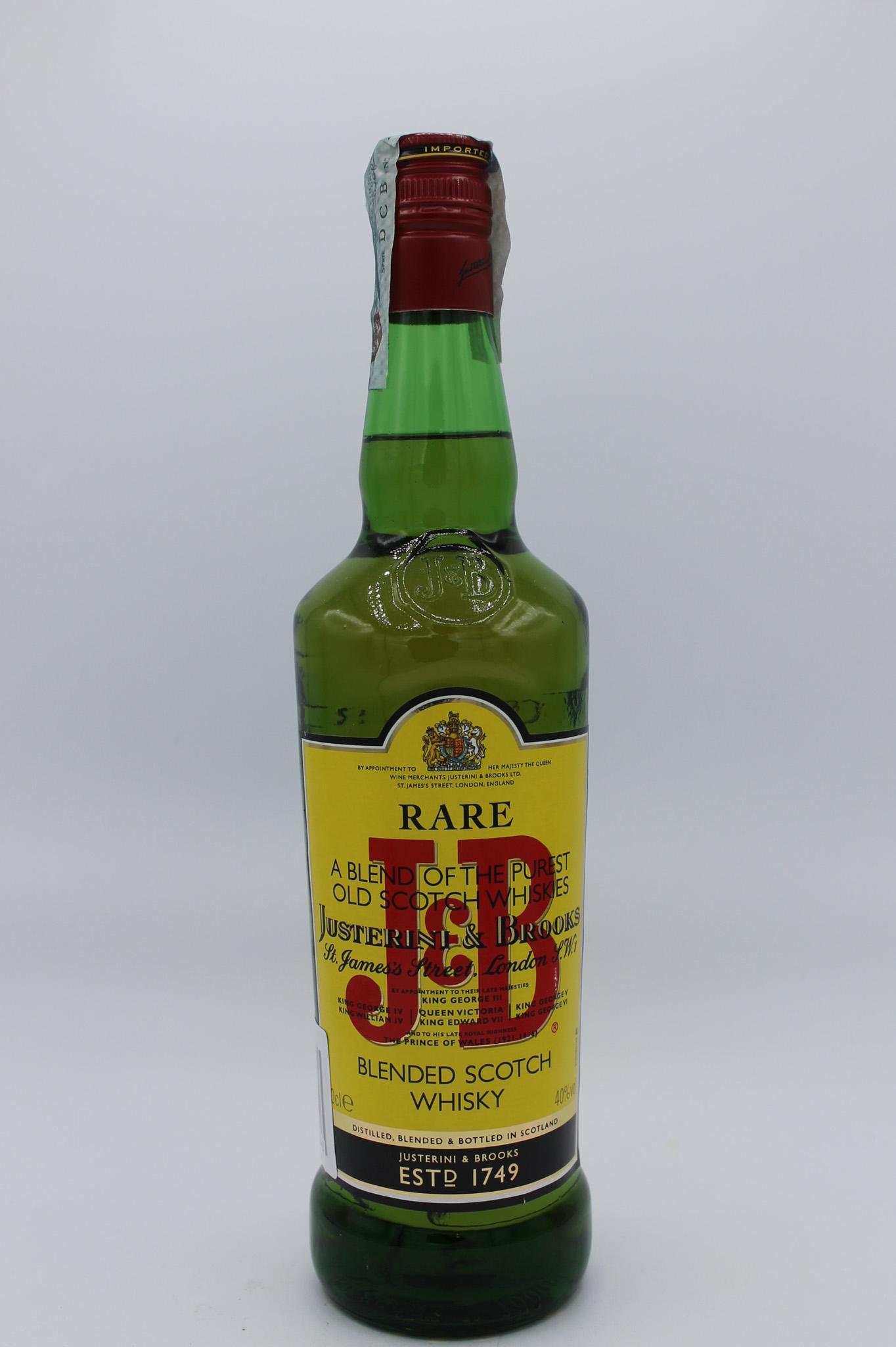 J&B whisky rare 700ml.