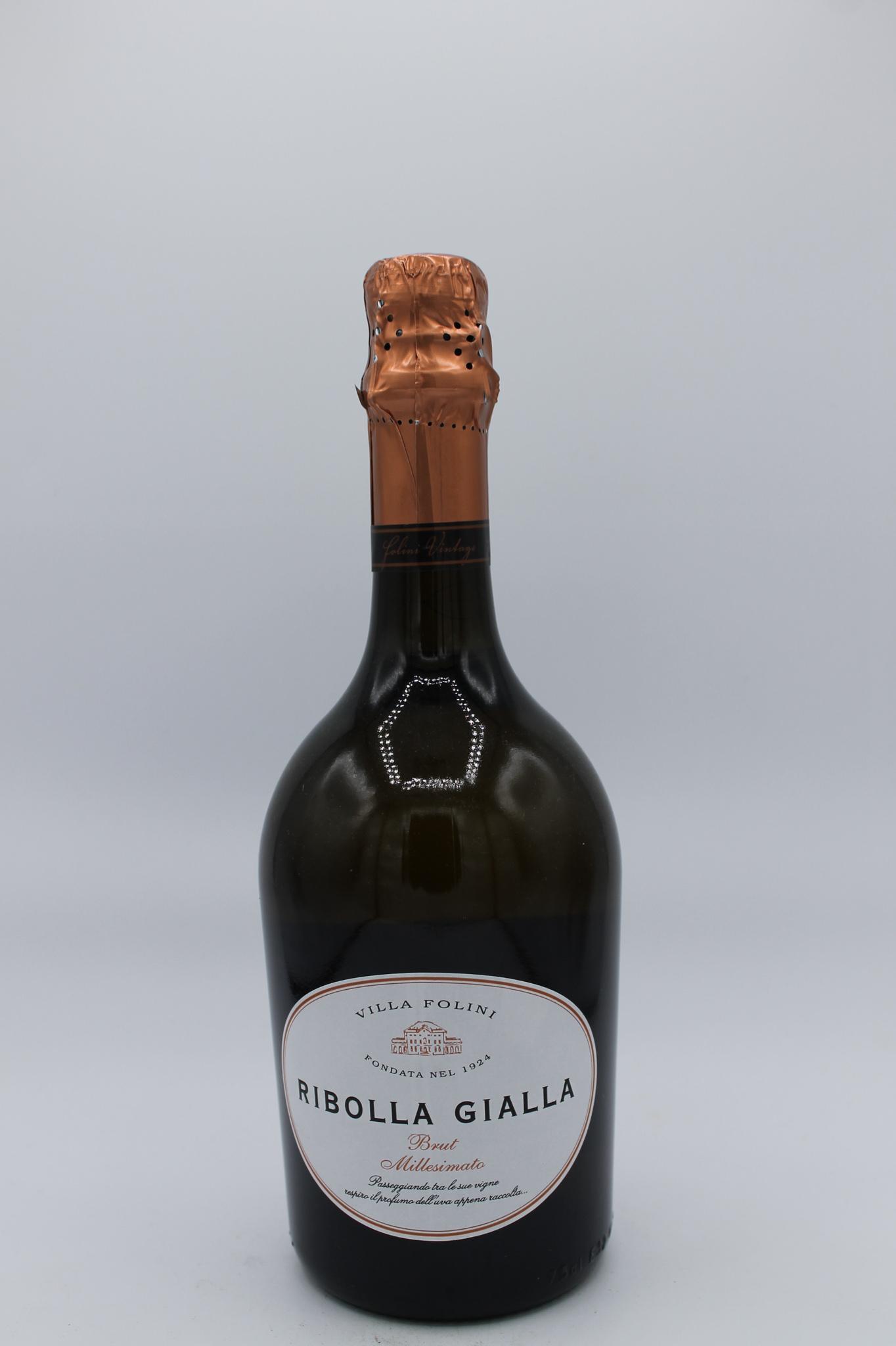 Villa Folini spumante brut millesimato ribolla gialla 750ml.
