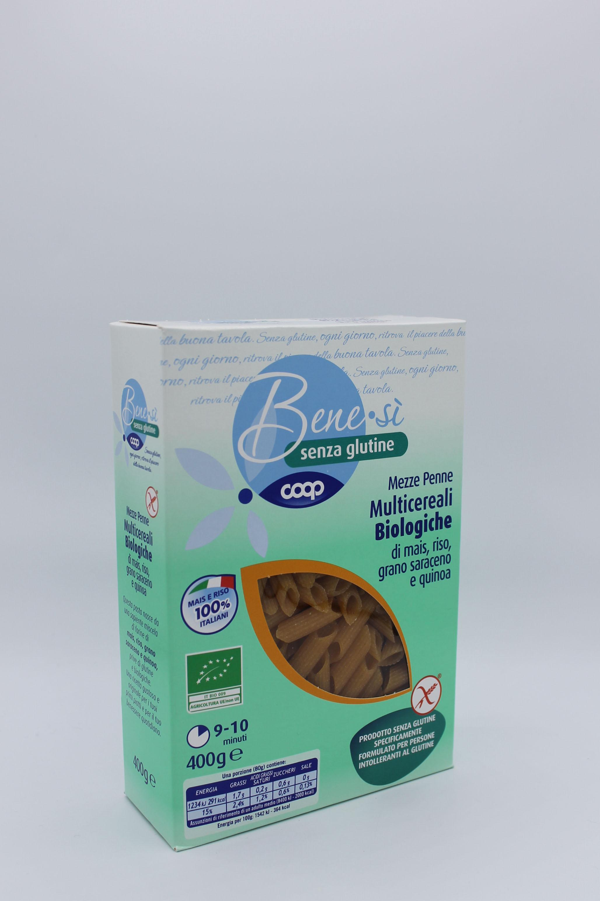 Coop benesì pasta corta senza glutine 400gr vari formati.