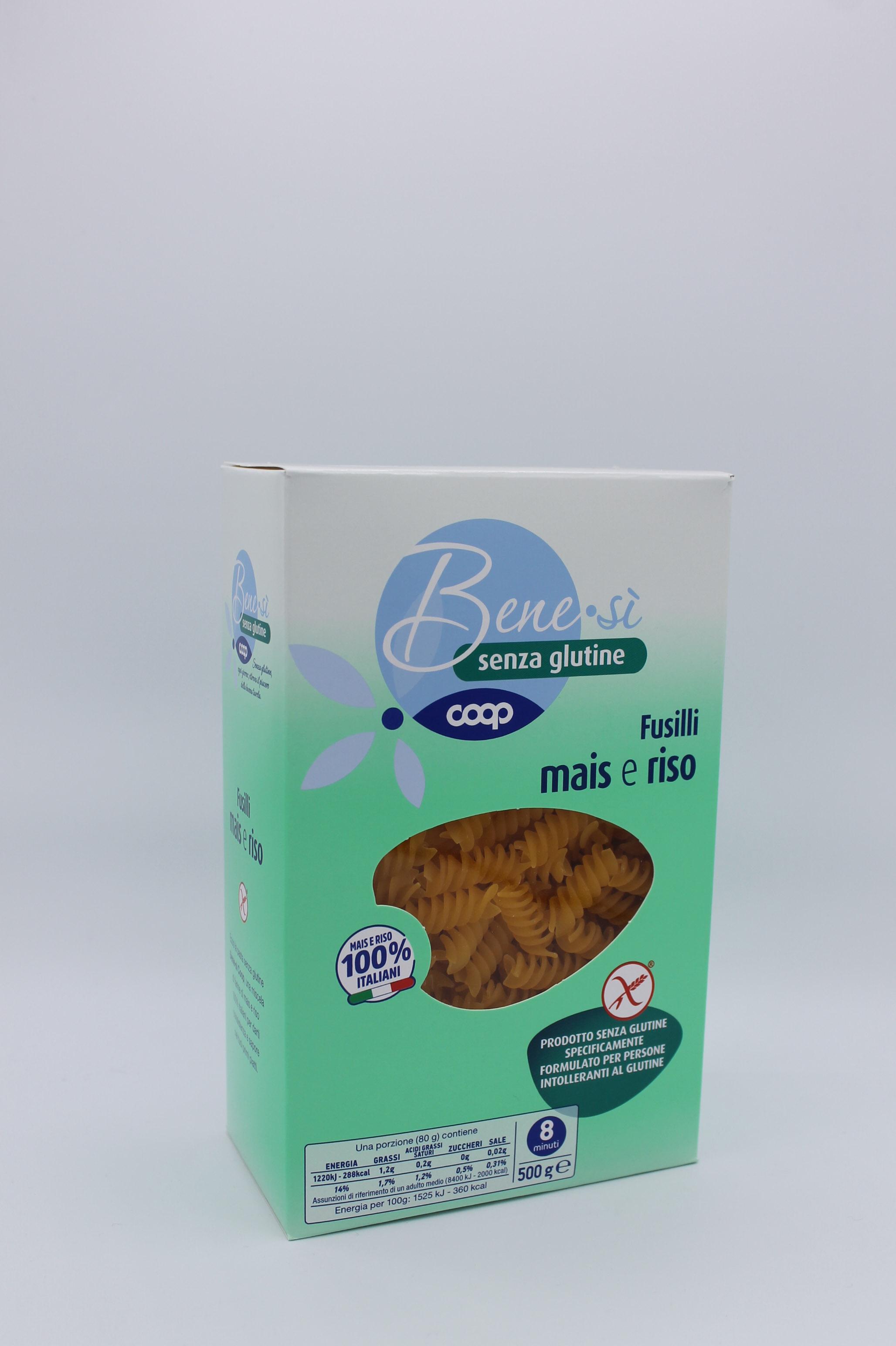 Coop benesì pasta corta senza glutine 500gr vari formati.