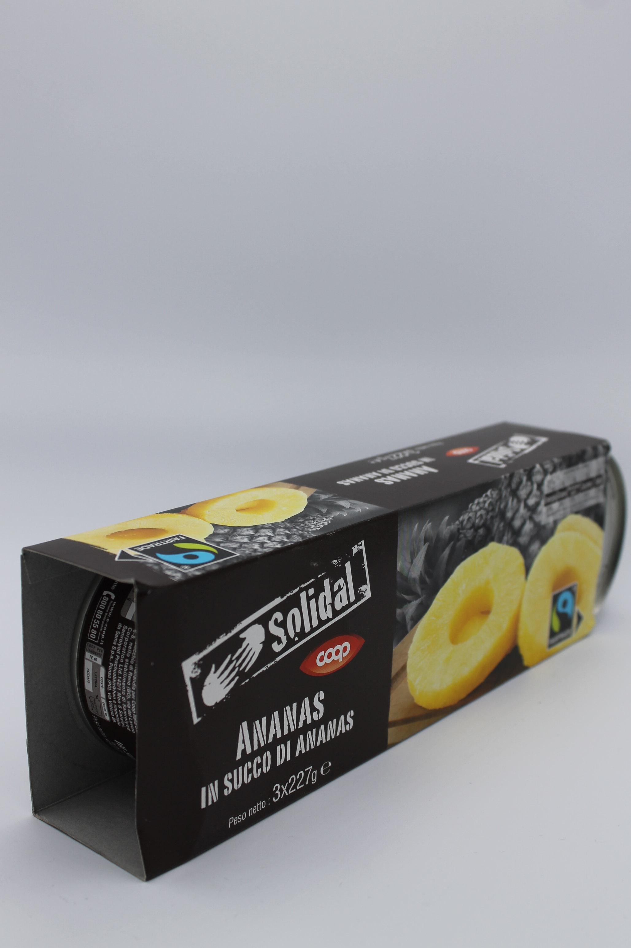 Fettine ananas in succo di ananas 3X140gr.