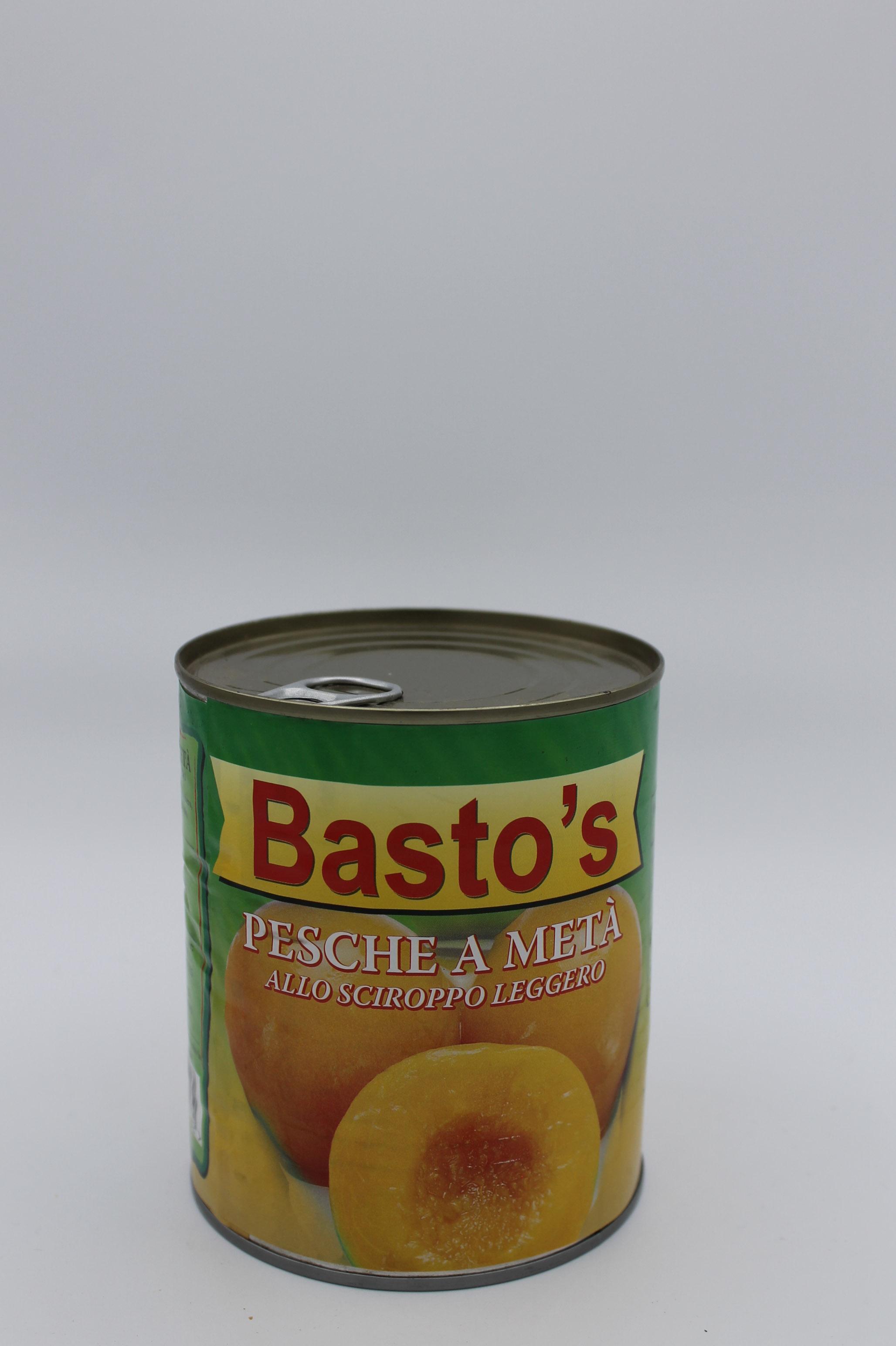 Basto's pesche sciroppate 822gr.