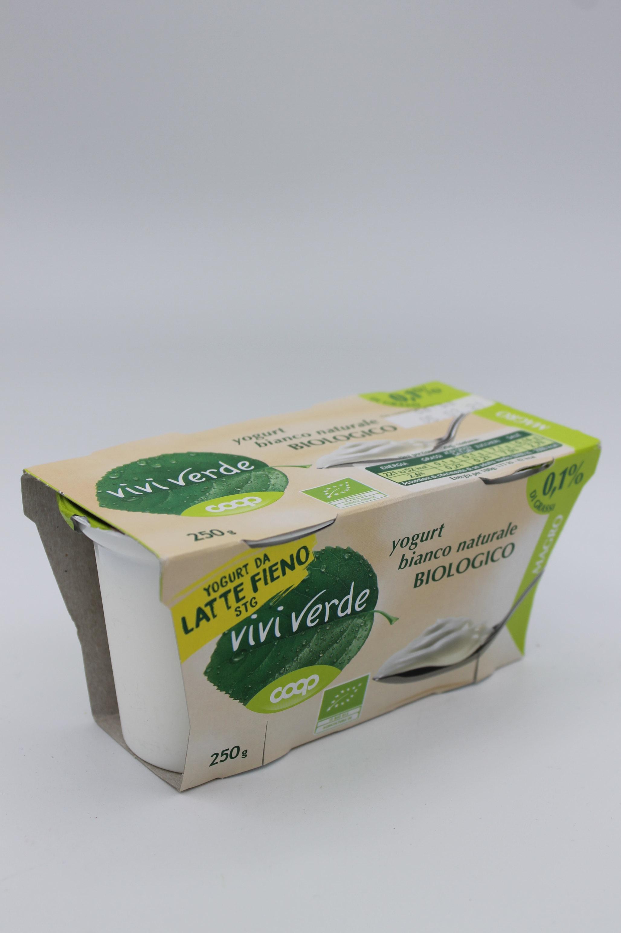 Coop viviverde yogurt 0,1% bio 2X125gr vari gusti.