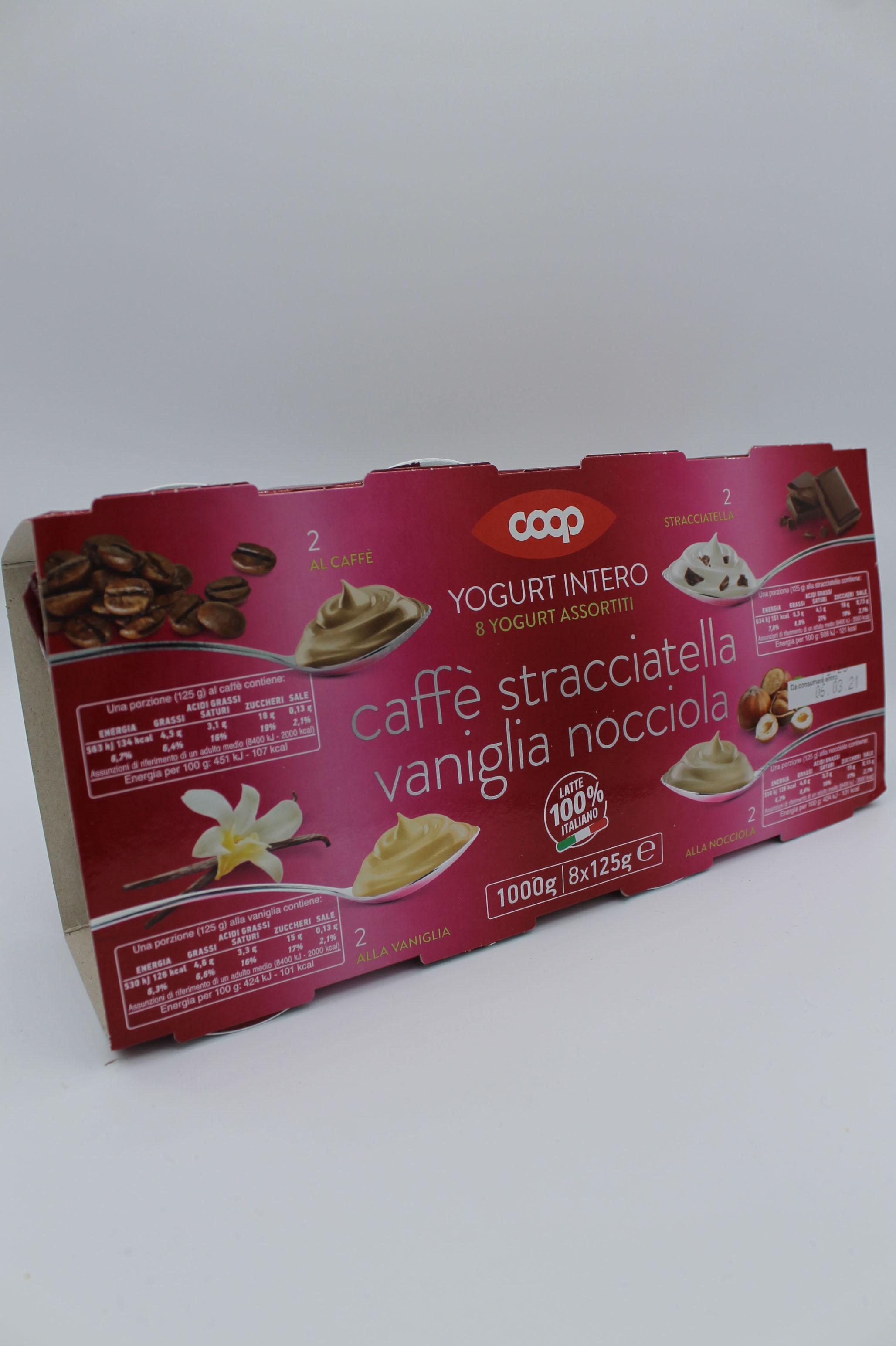 Coop yogurt intero gusti assortiti 8X125gr.