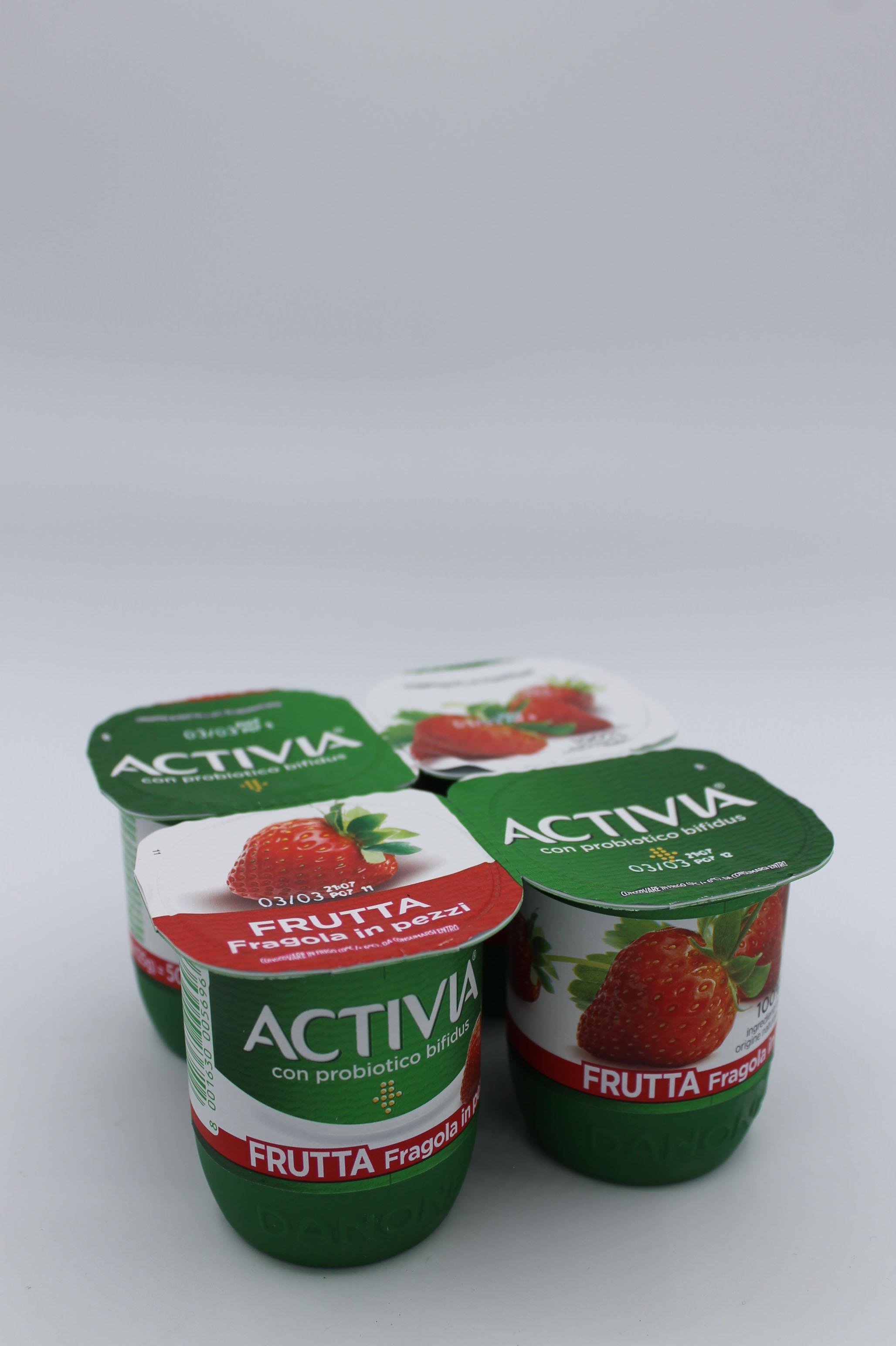 Activia yogurt frutta in pezzi 4x125gr vari gusti.