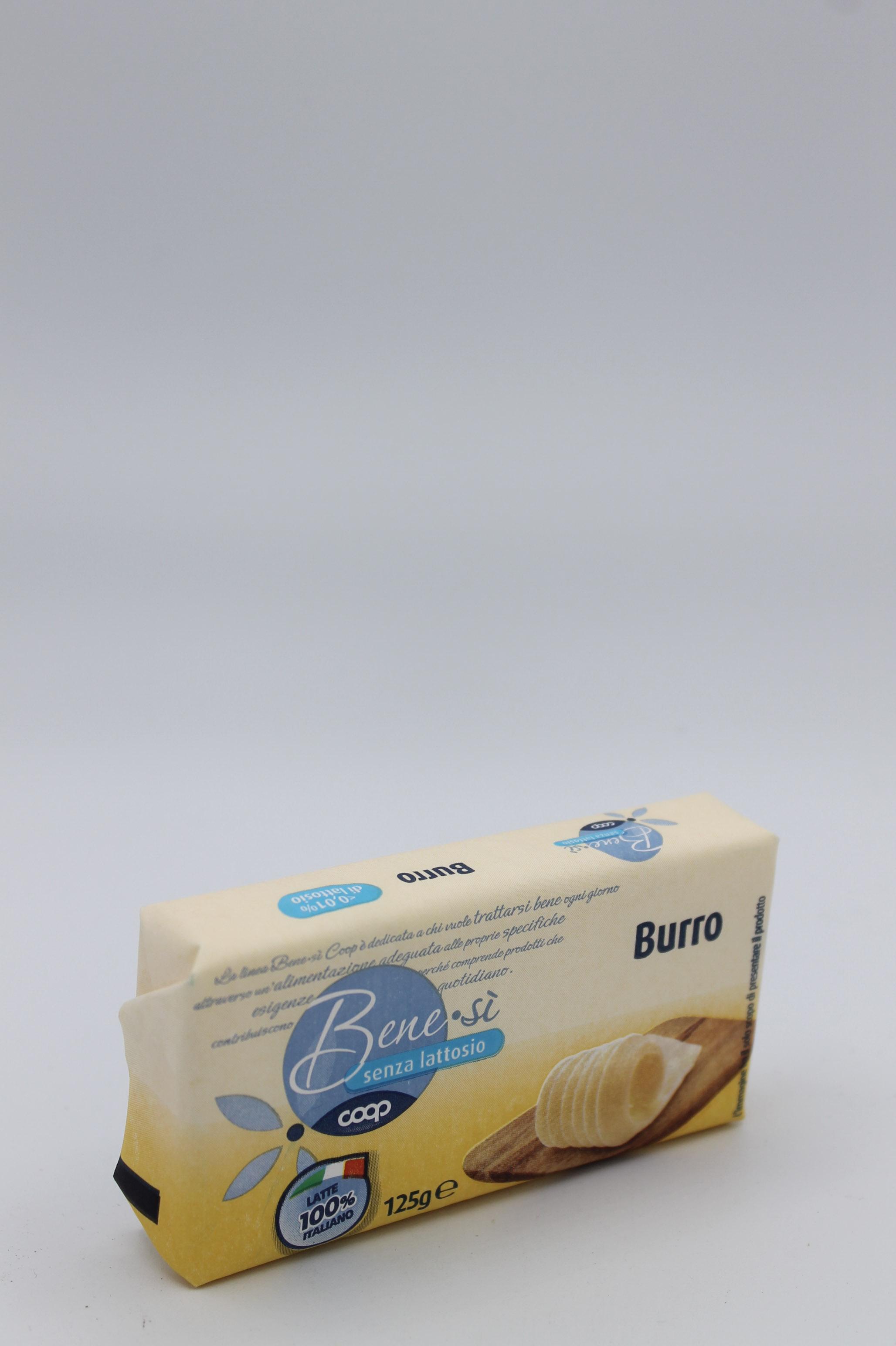 Coop benesì burro senza lattosio 125gr.