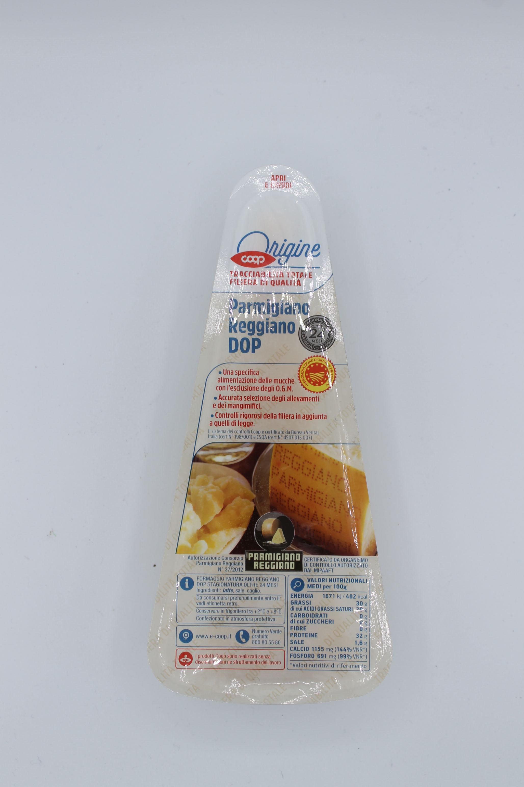 Coop parmigiano reggiano DOP 24 mesi 300gr.