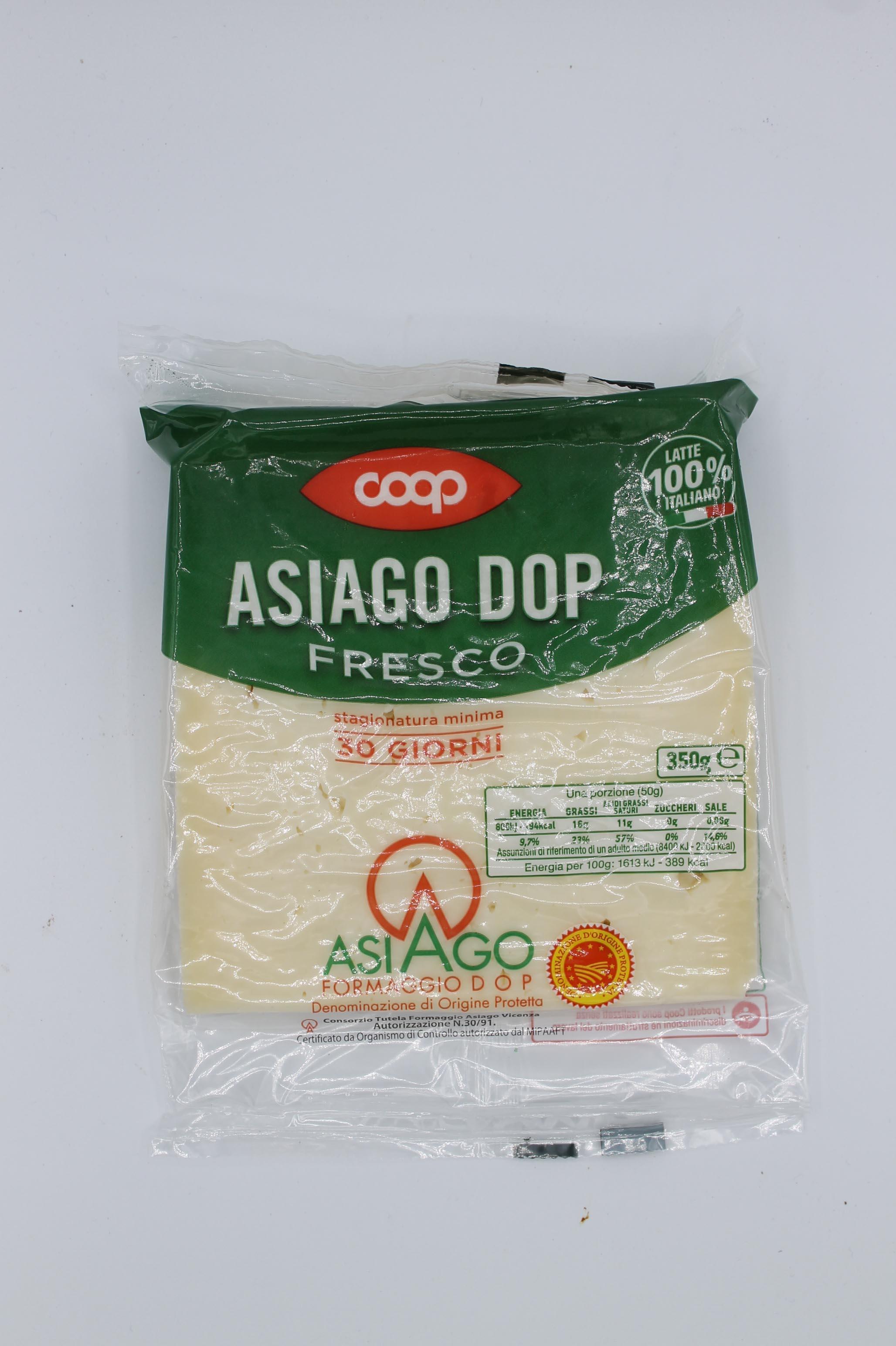 Coop formaggio asiago DOP 350gr.