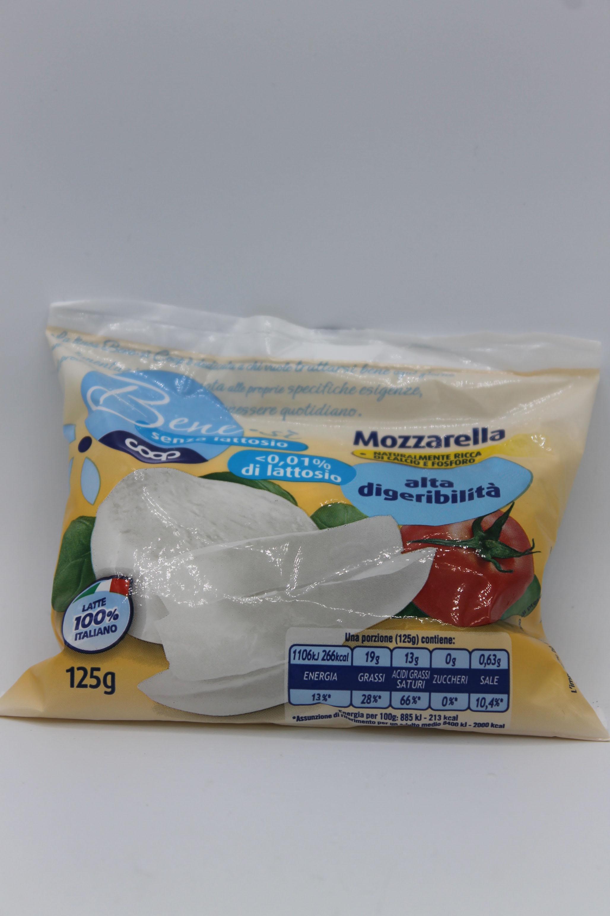 Coop benesì mozzarella senza lattosio 125gr.