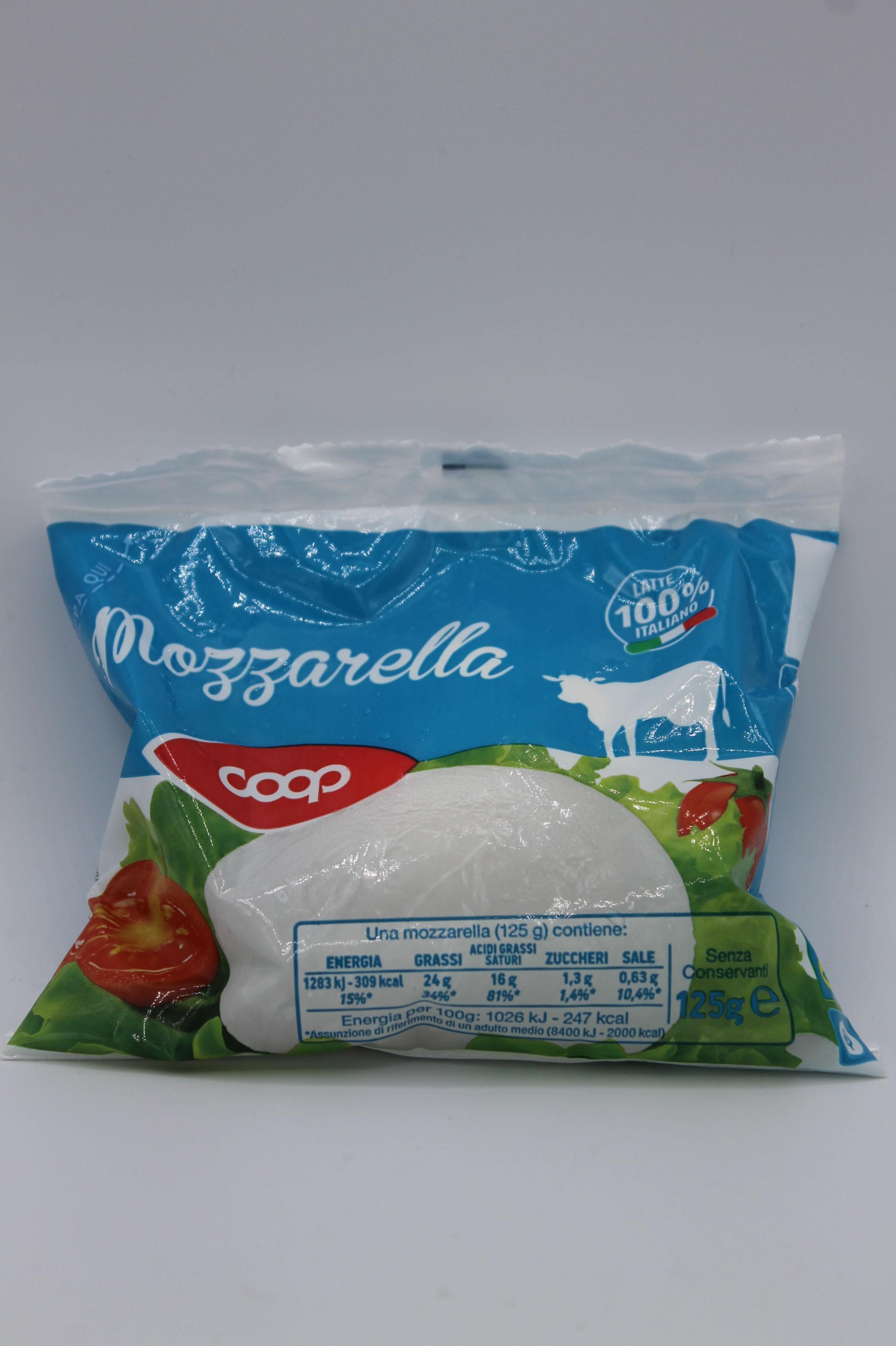 Coop mozzarella busta 125gr.