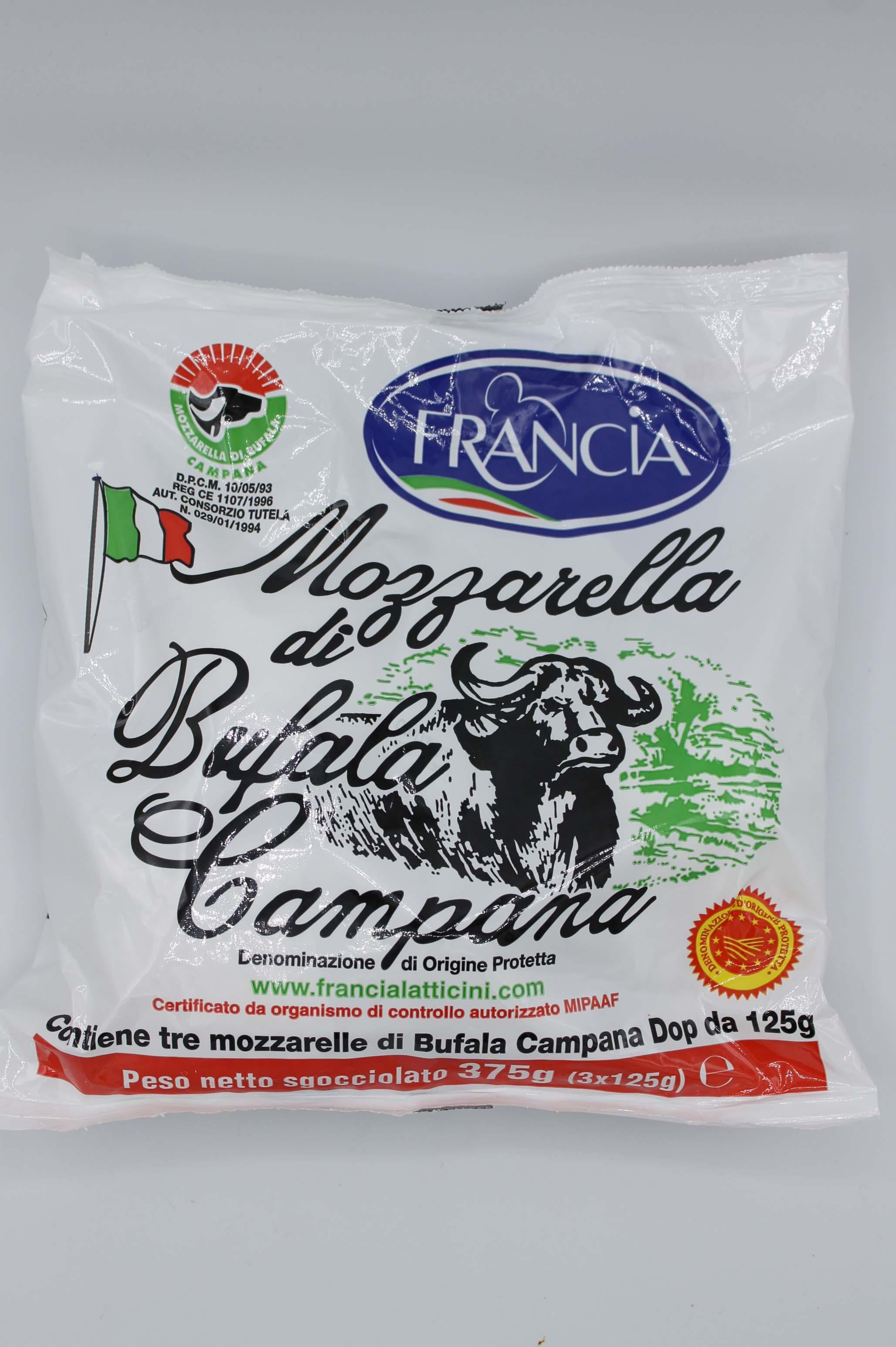Francia mozzarella bufala campana 3X125gr.
