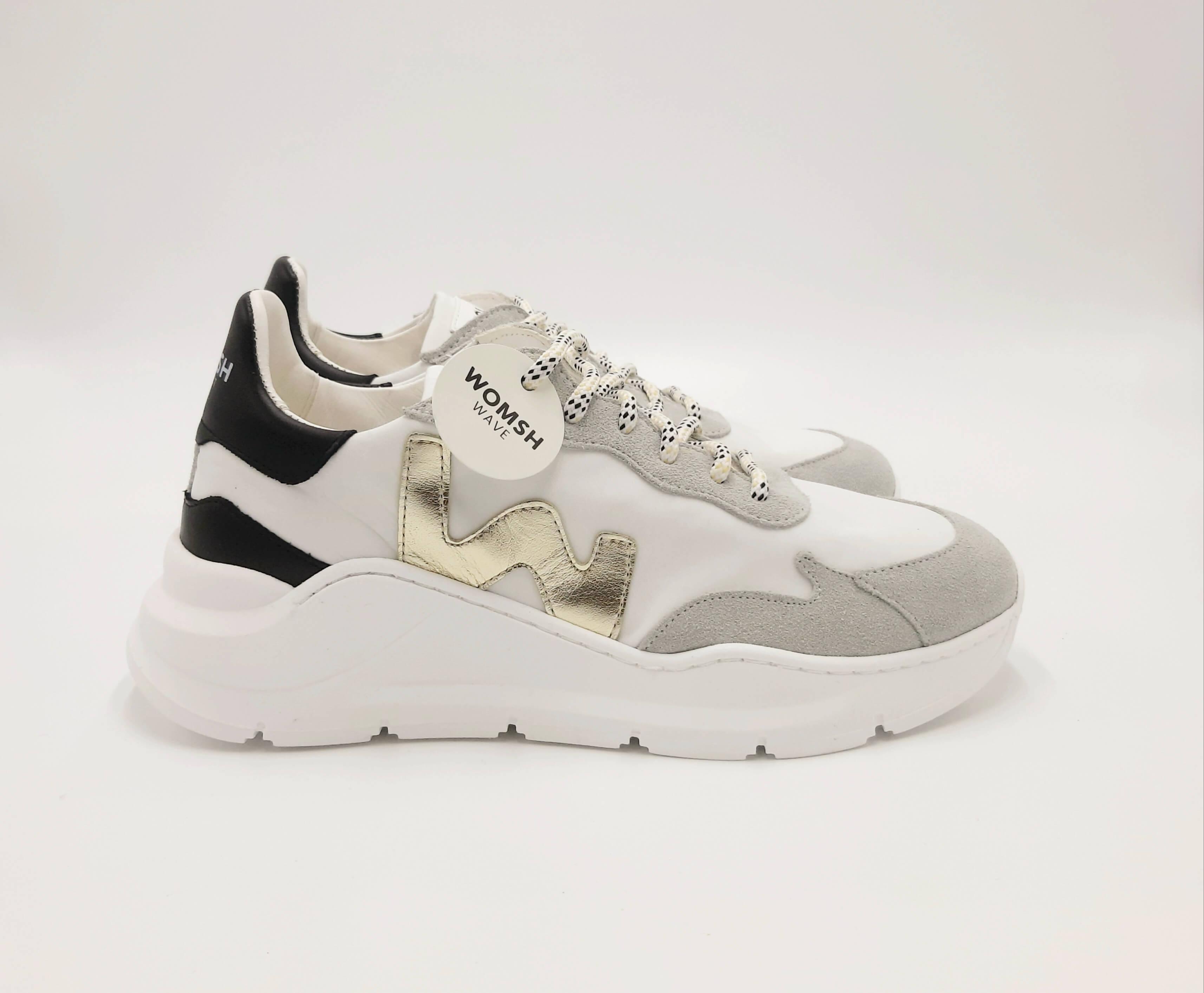 Sneakers bianca grigio Womsh
