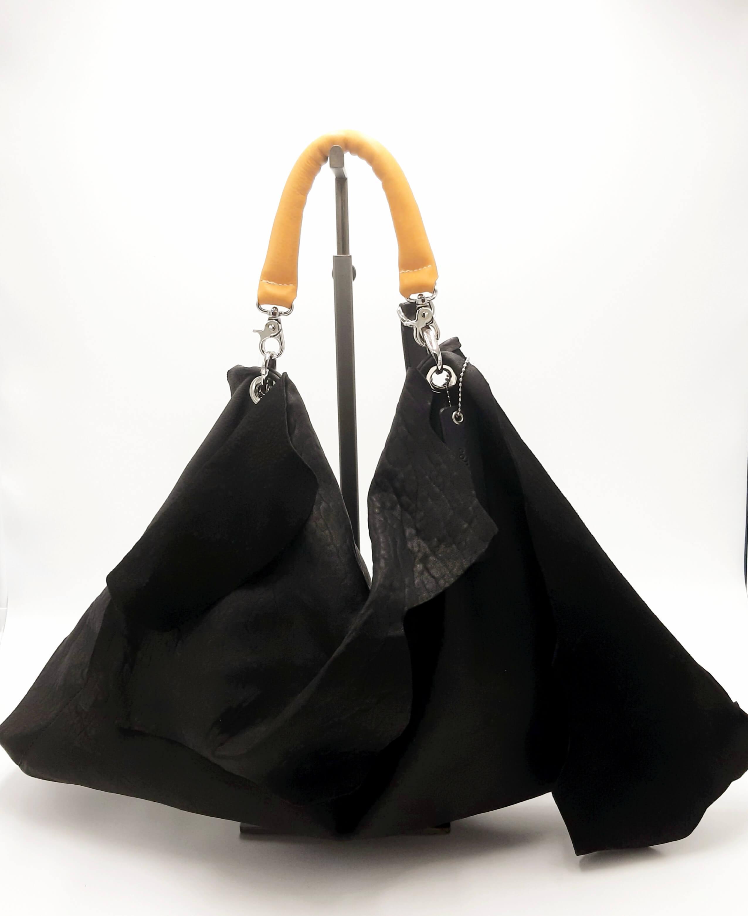 Borsa in pelle nera Collection Privée.