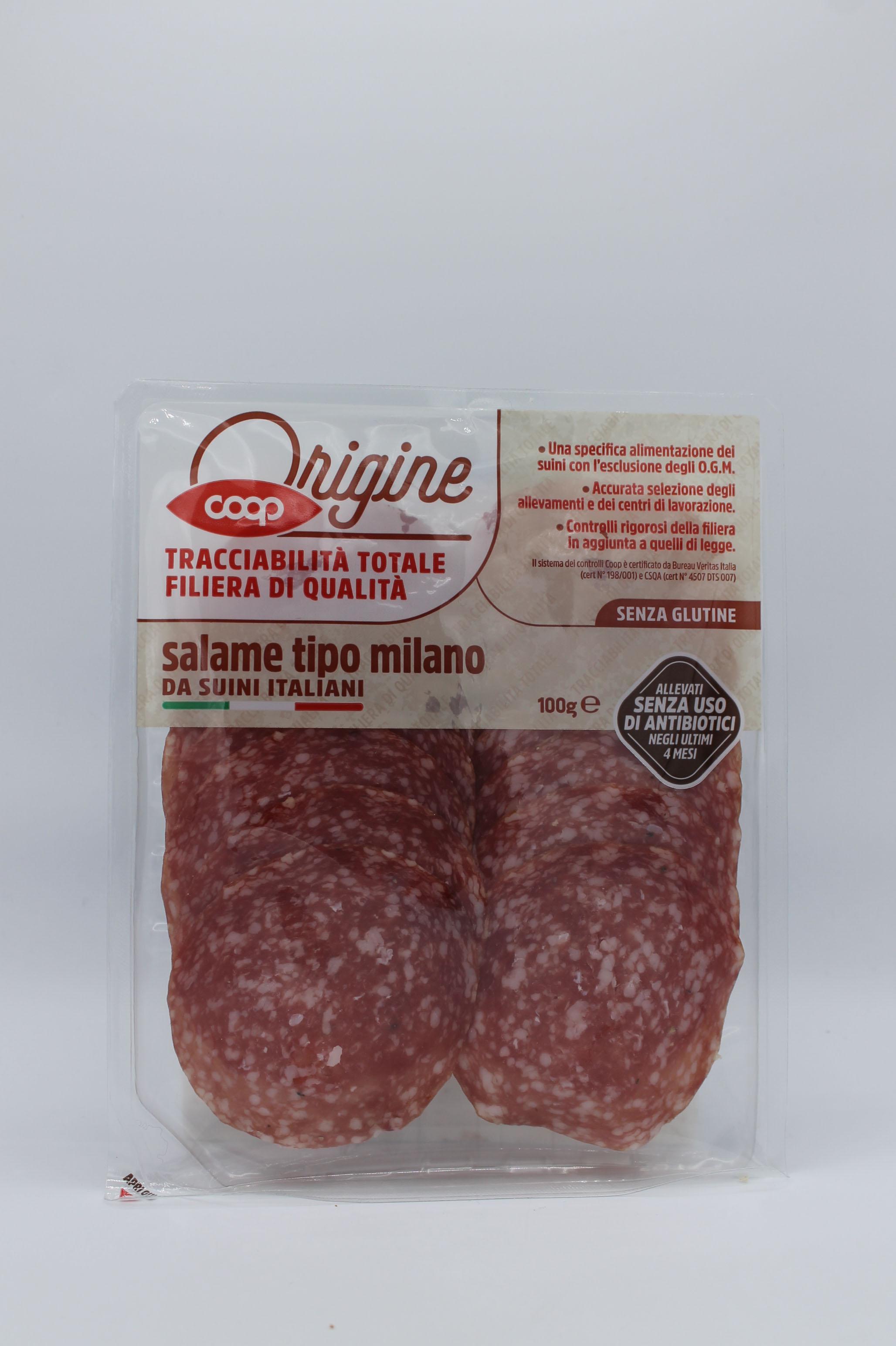 Coop origine salame milano 100gr.