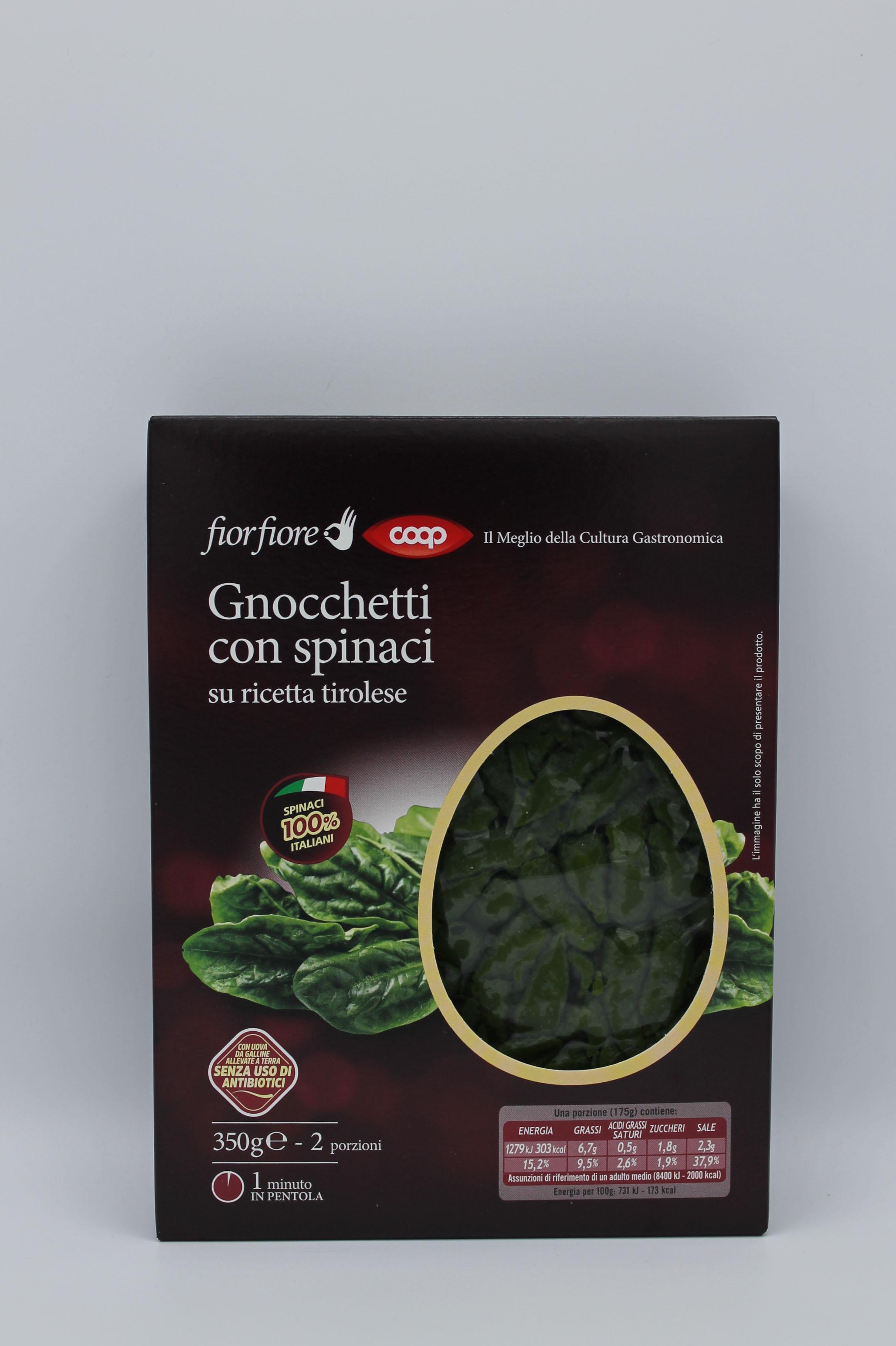 Fior fiore coop gnocchetti spinaci 350gr.