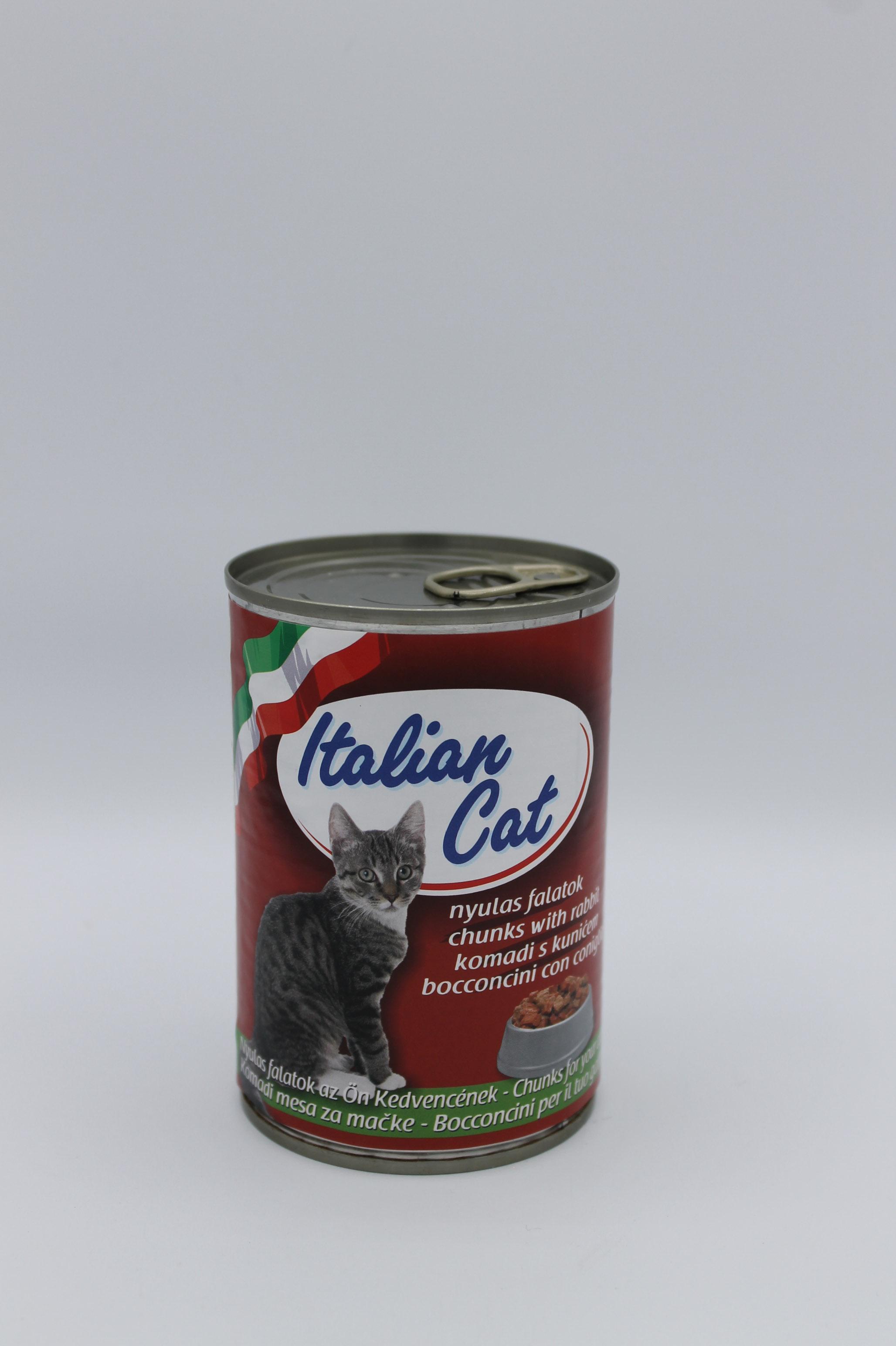 Italian cat bocconcini coniglio 415gr.