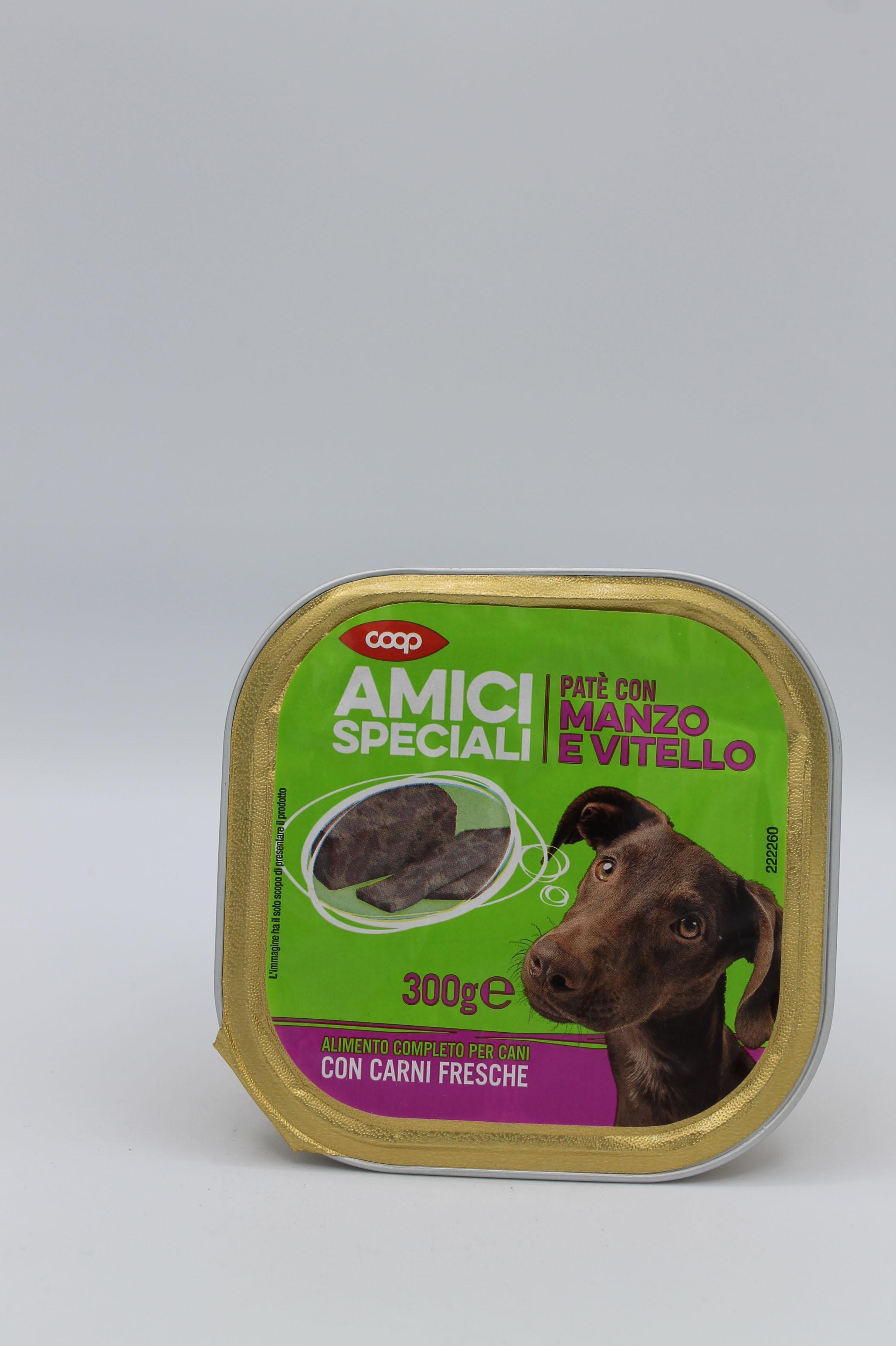 Coop patè cani manzo/vitello 300gr.