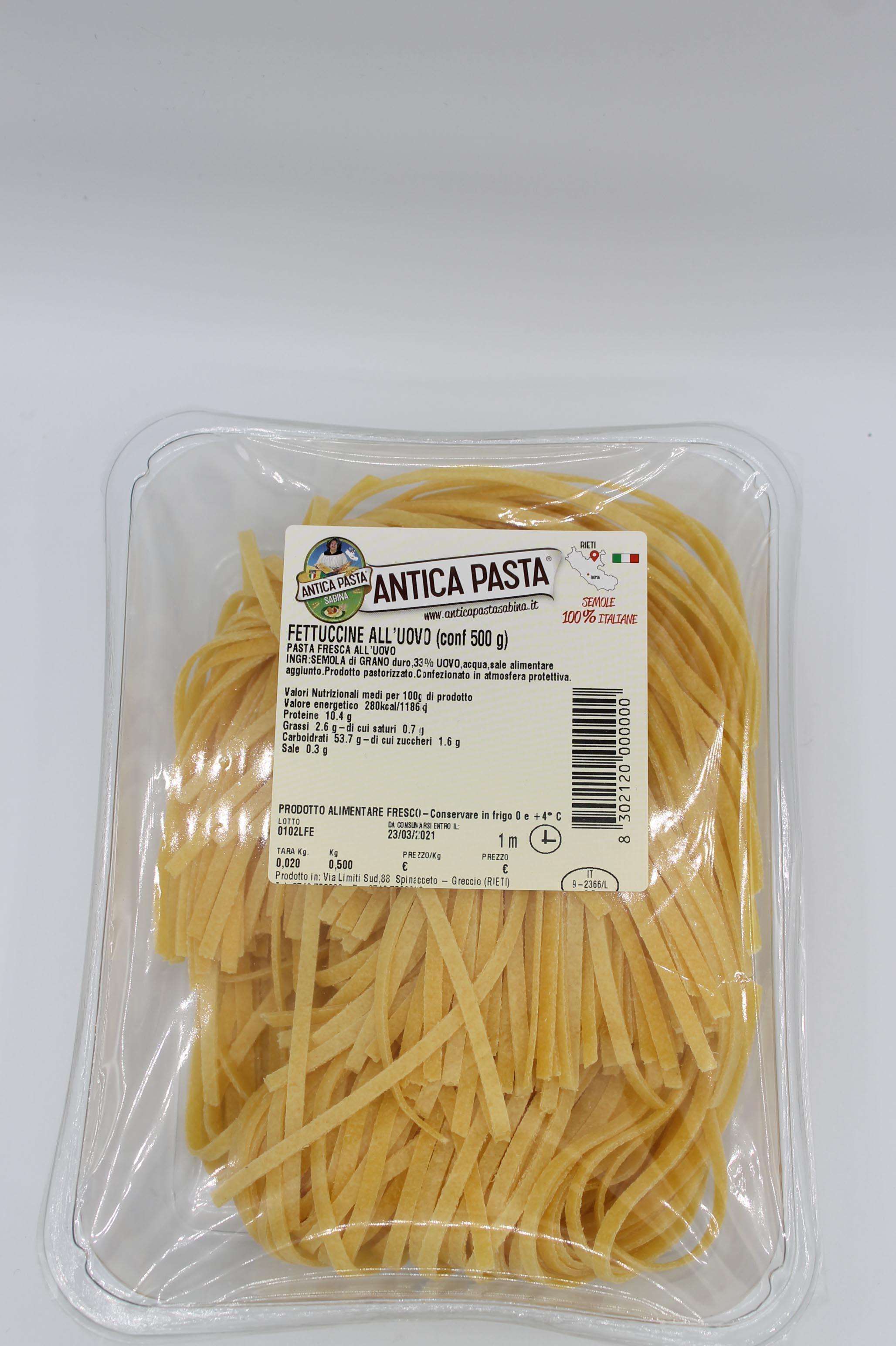 Antica Pasta fettuccine uovo 500gr.
