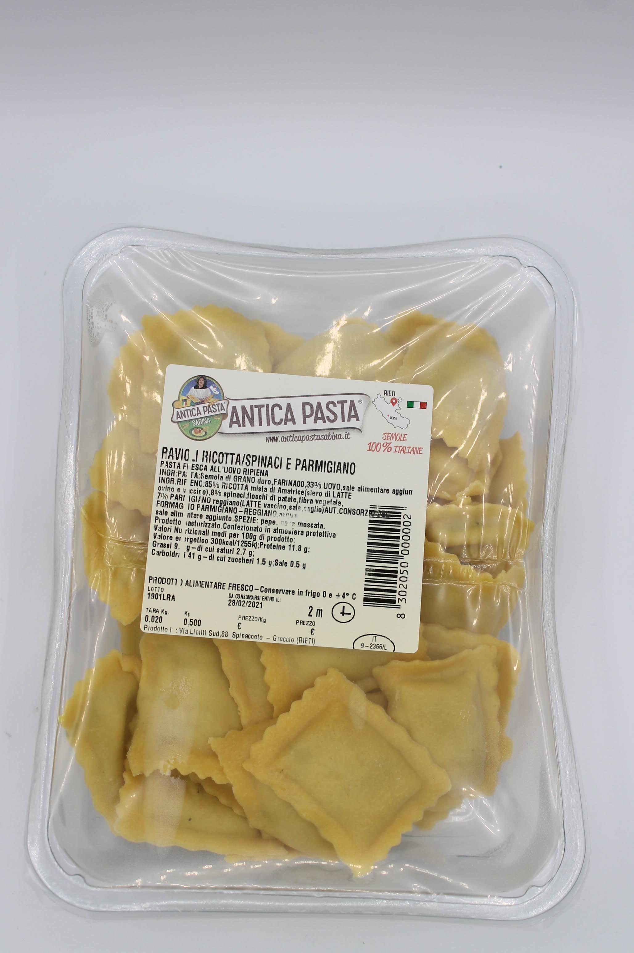 Antica Pasta ravioli ricotta/spinaci 500gr.