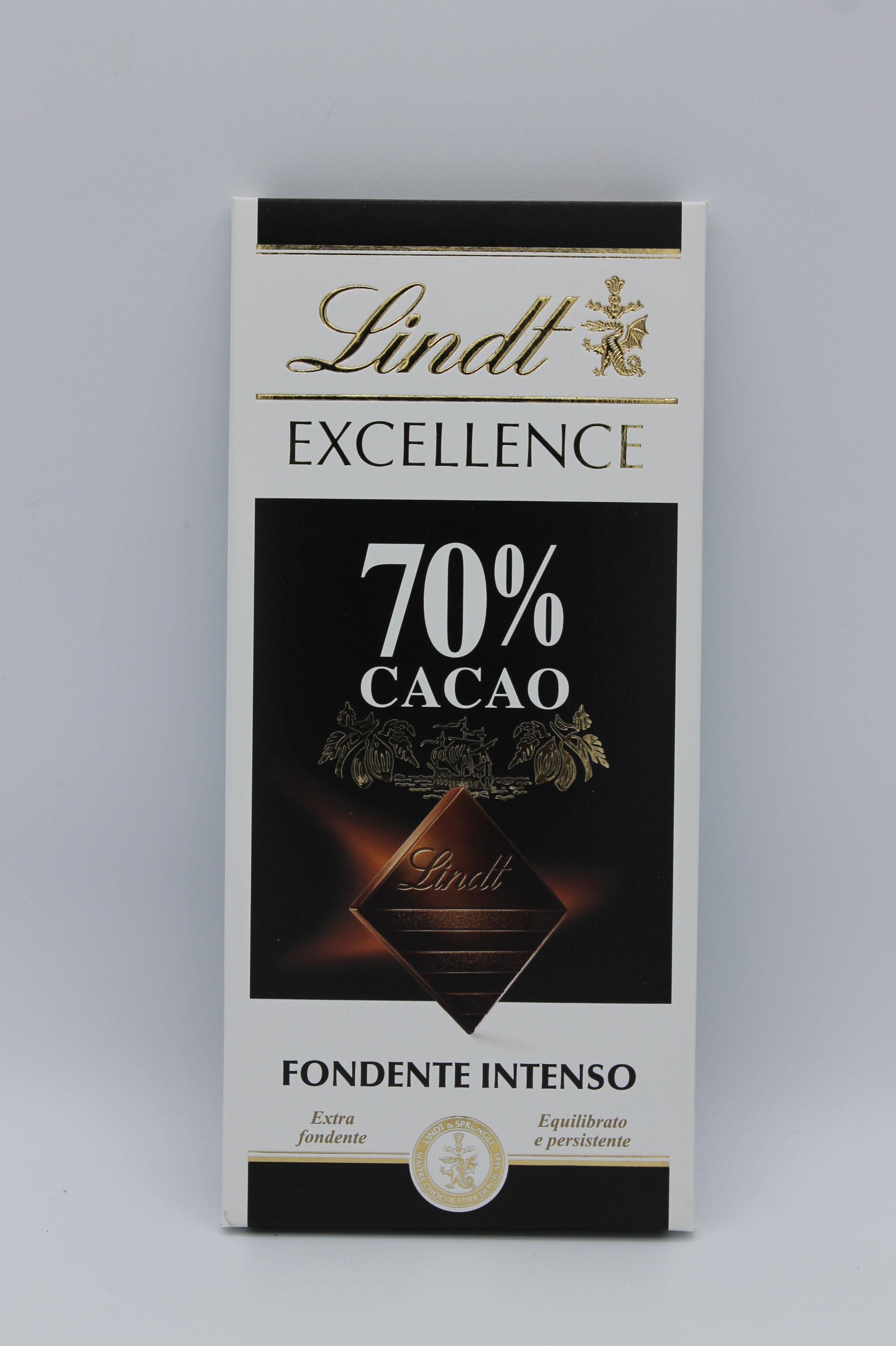 Lindt tavoletta 70% cacao 100gr.
