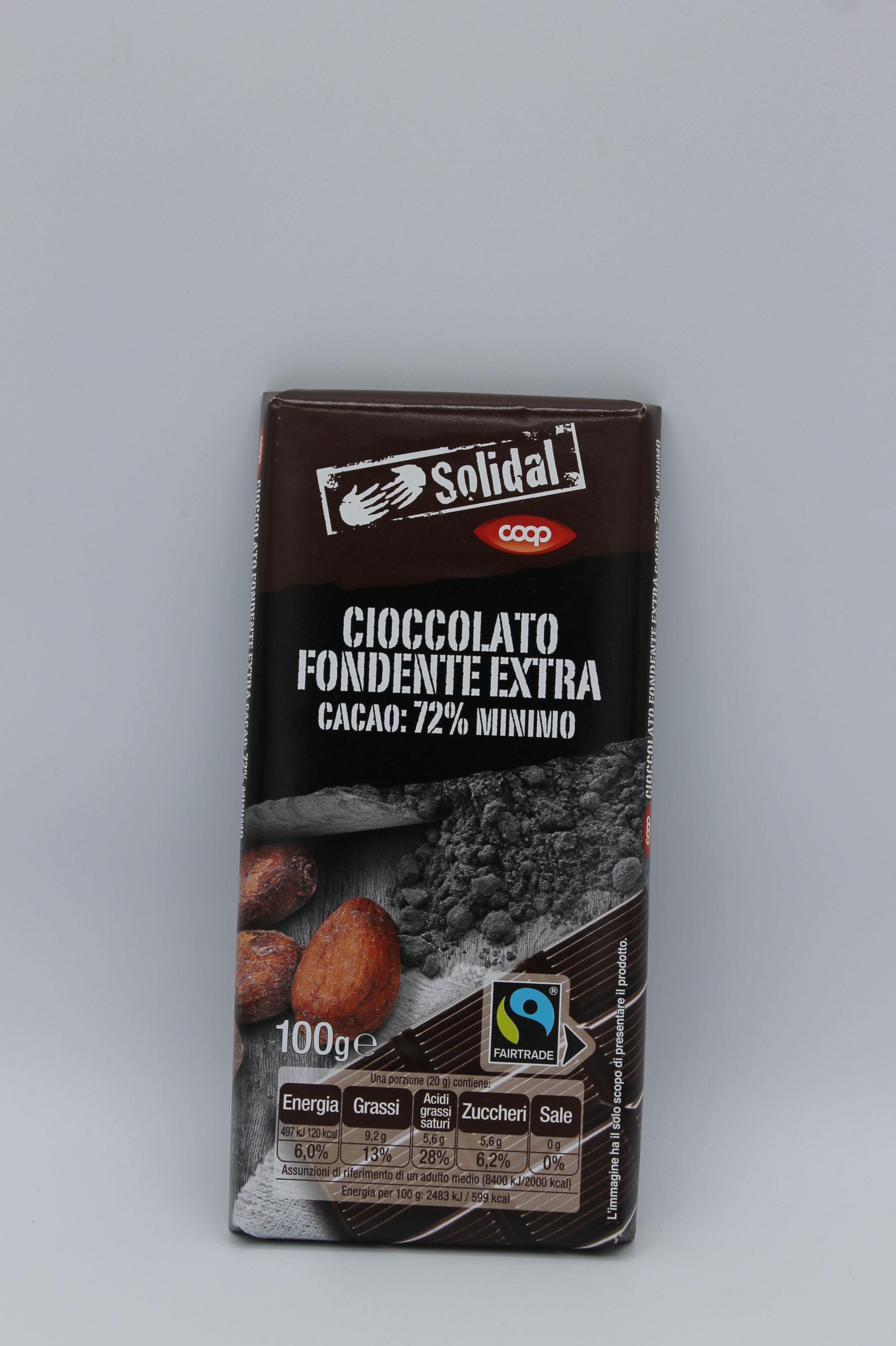 Coop tavoletta cioccolato 72% 100gr.