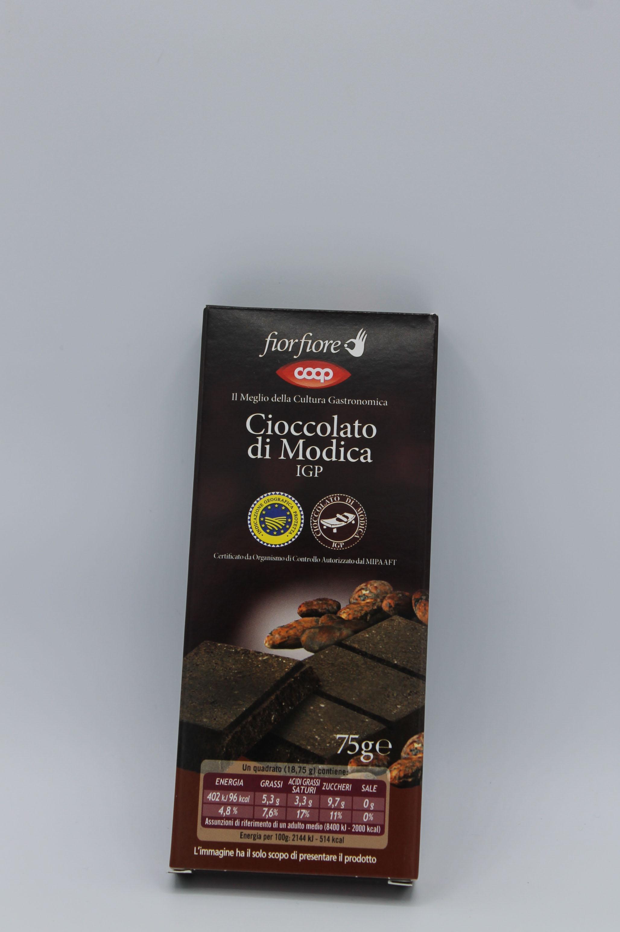 Coop cioccolato fondente di modica 75gr.