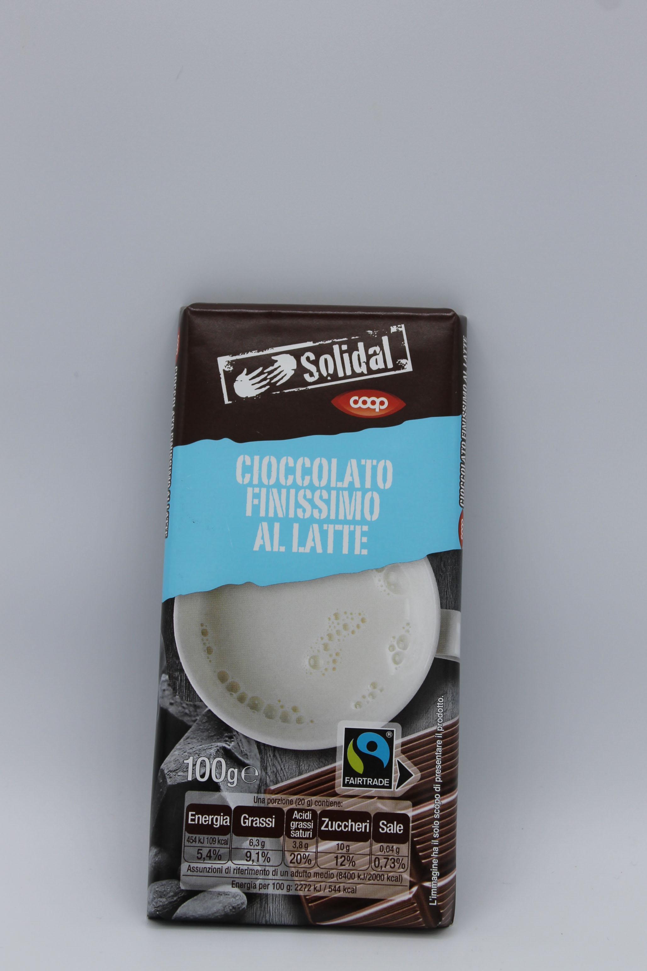 Coop tavoletta cioccolato latte 100gr.
