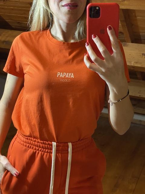 Tshirt Vicolo tinta unita  Papaya e Peach
