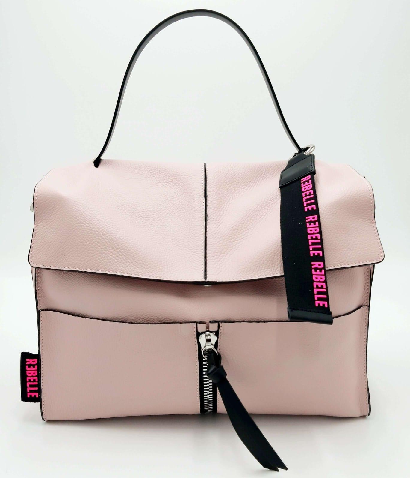 Cartella Clio in pelle bottalata rosa REBELLE