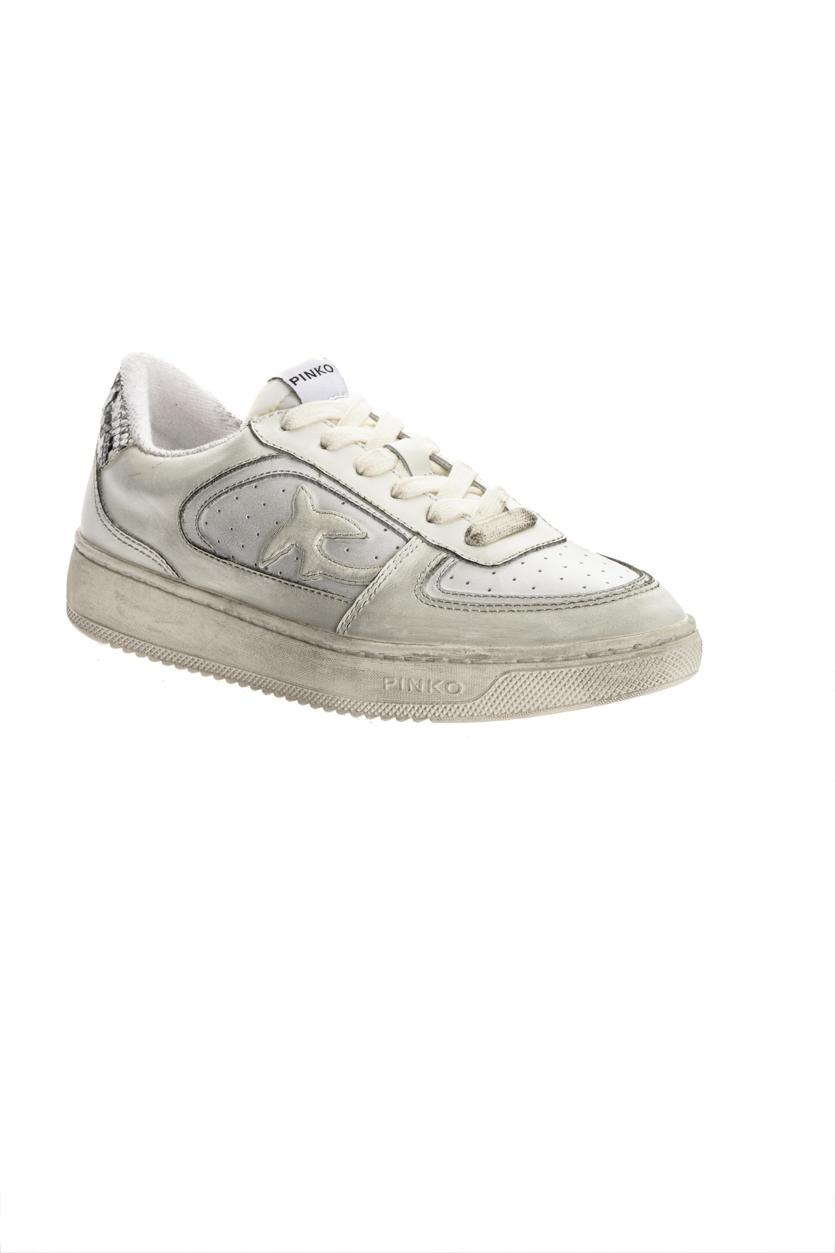 Sneaker Liquirizia low top in pelle Pinko