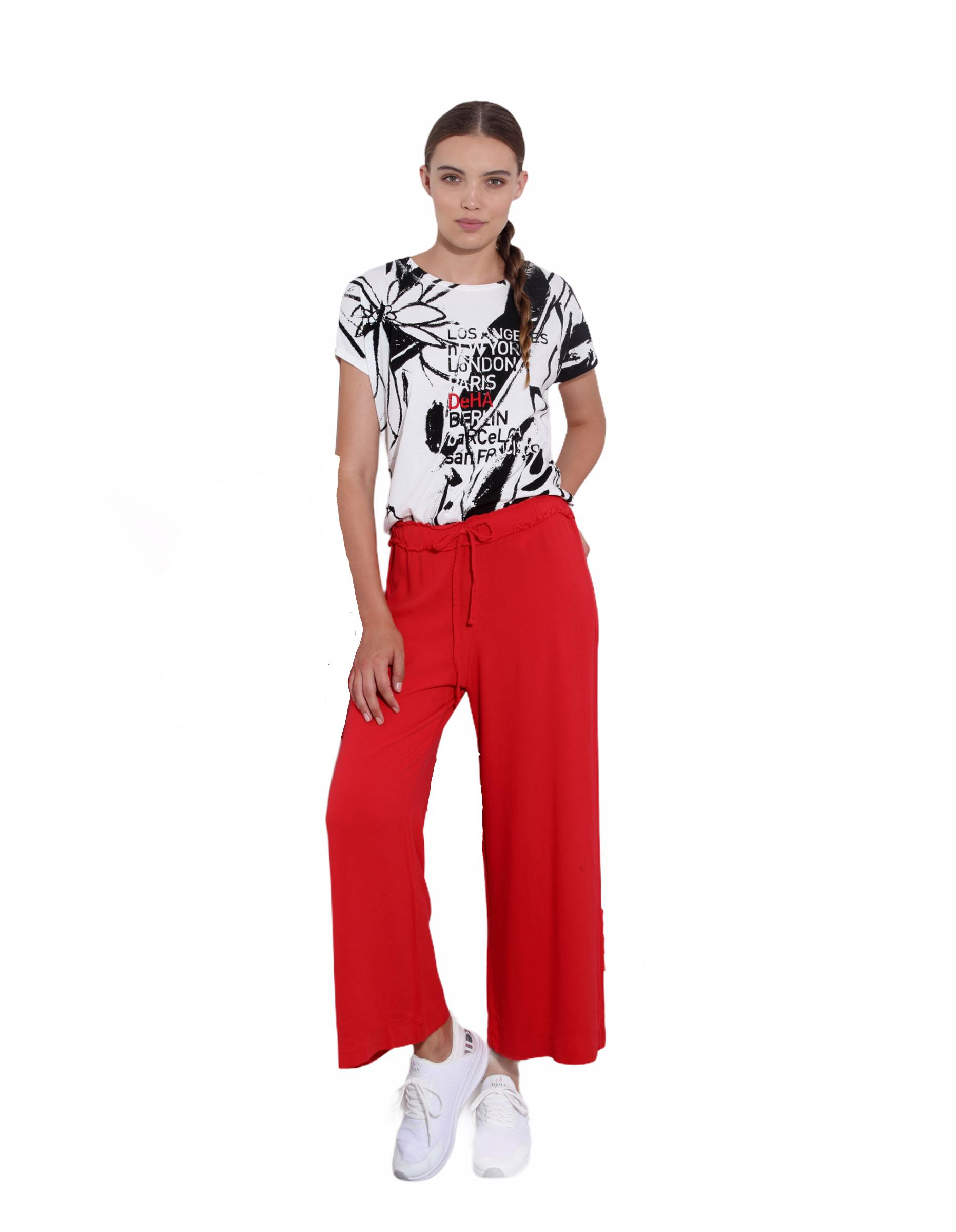 DEHA PANTALONE CROPPED IN CREPE