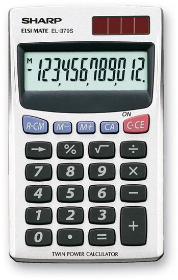 Sharp EL-379SB calcolatrice Tasca Calcolatrice di base Bianco