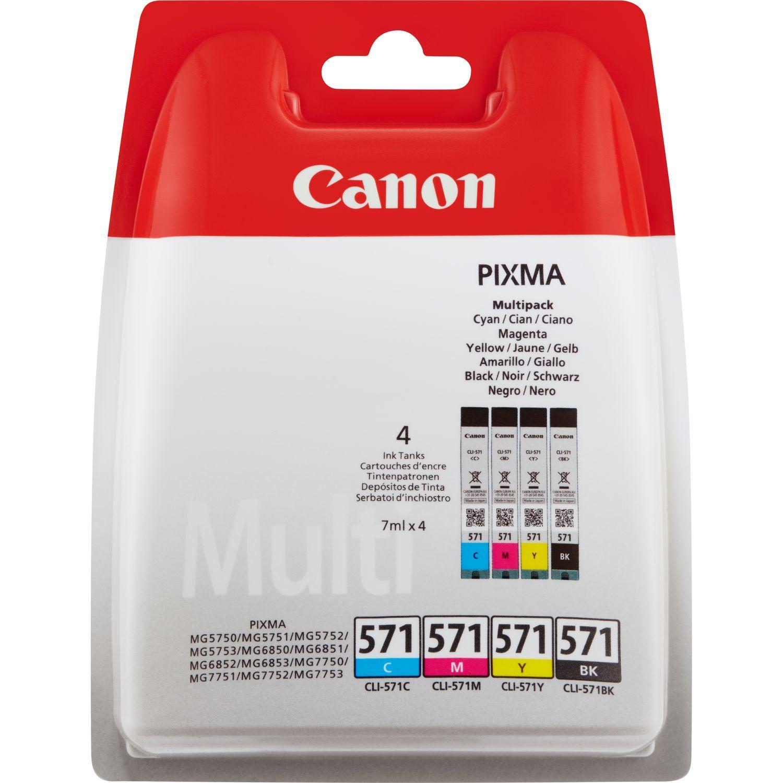 Canon CLI-571 Multipack Originale Nero, Ciano, Magenta, Giallo 4 pezzo(i)