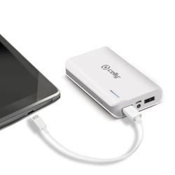 Celly Li-Ion 6000mAh batteria portatile Bianco Ioni di Litio