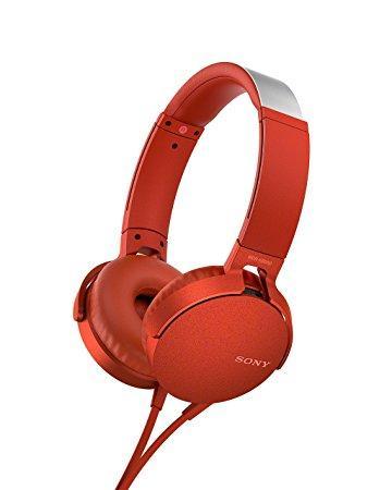 Sony MDR-XB550AP Cuffia Padiglione auricolare Rosso