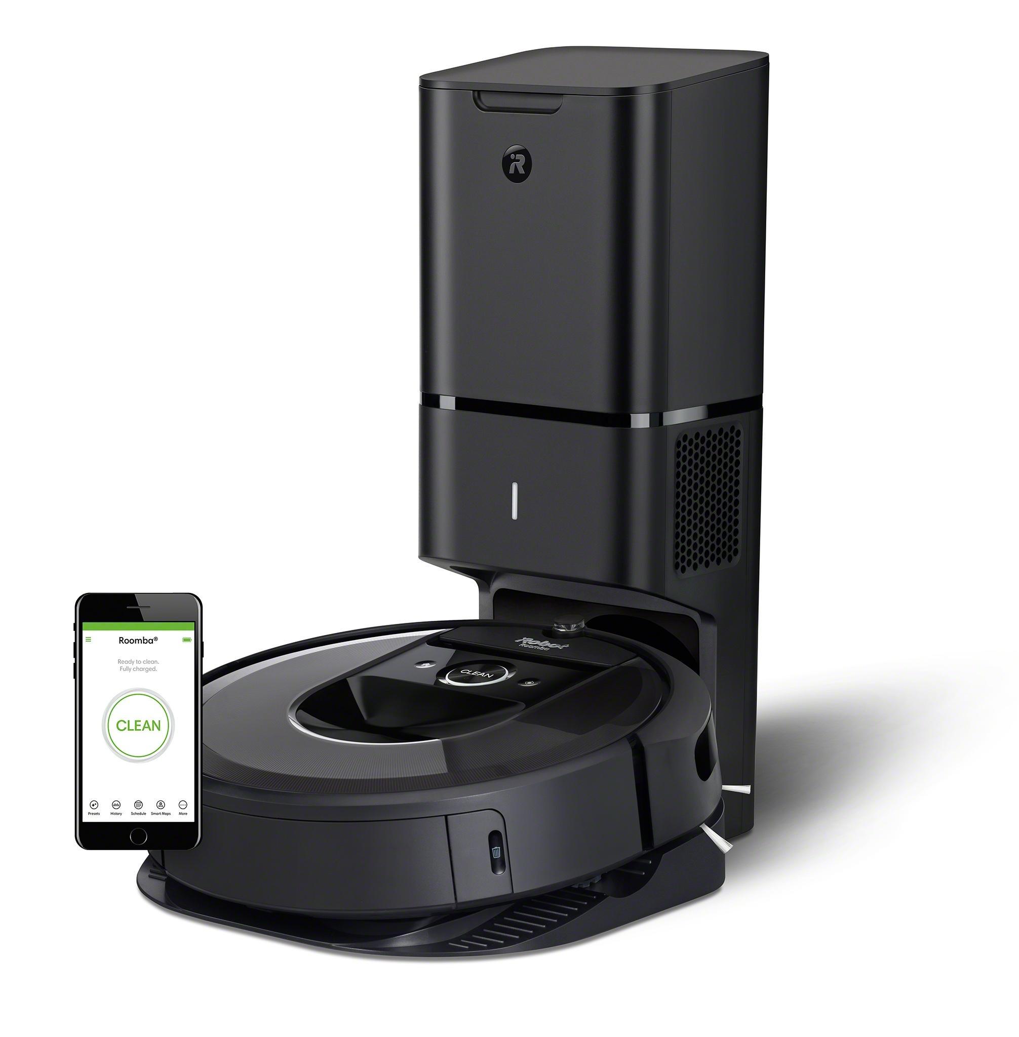 iRobot Roomba i7+ aspirapolvere robot Senza sacchetto Nero 0,4 L