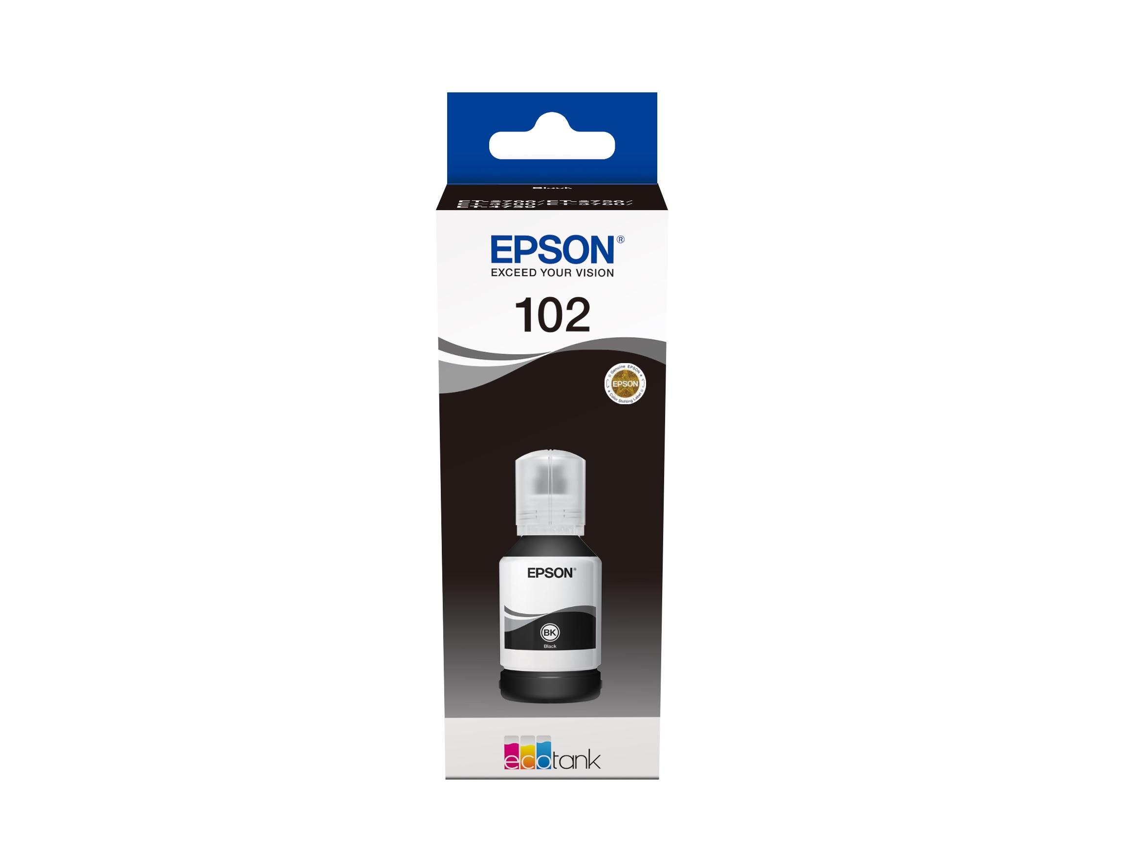 Epson 102 EcoTank Pigment Black ink bottle